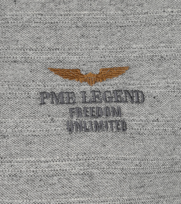 PME Legend Polo Strepen Grijs