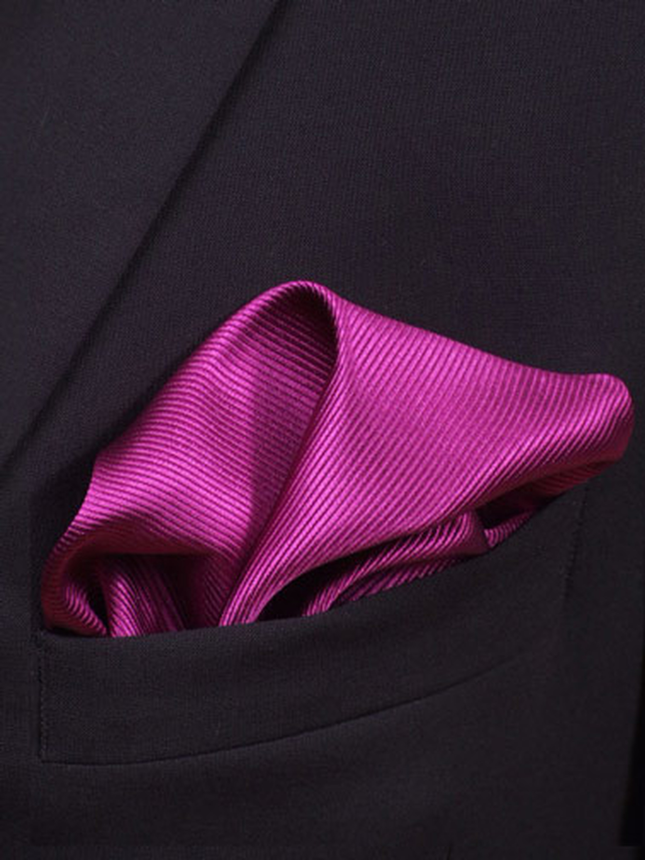 Pocket Square Aubergine F28