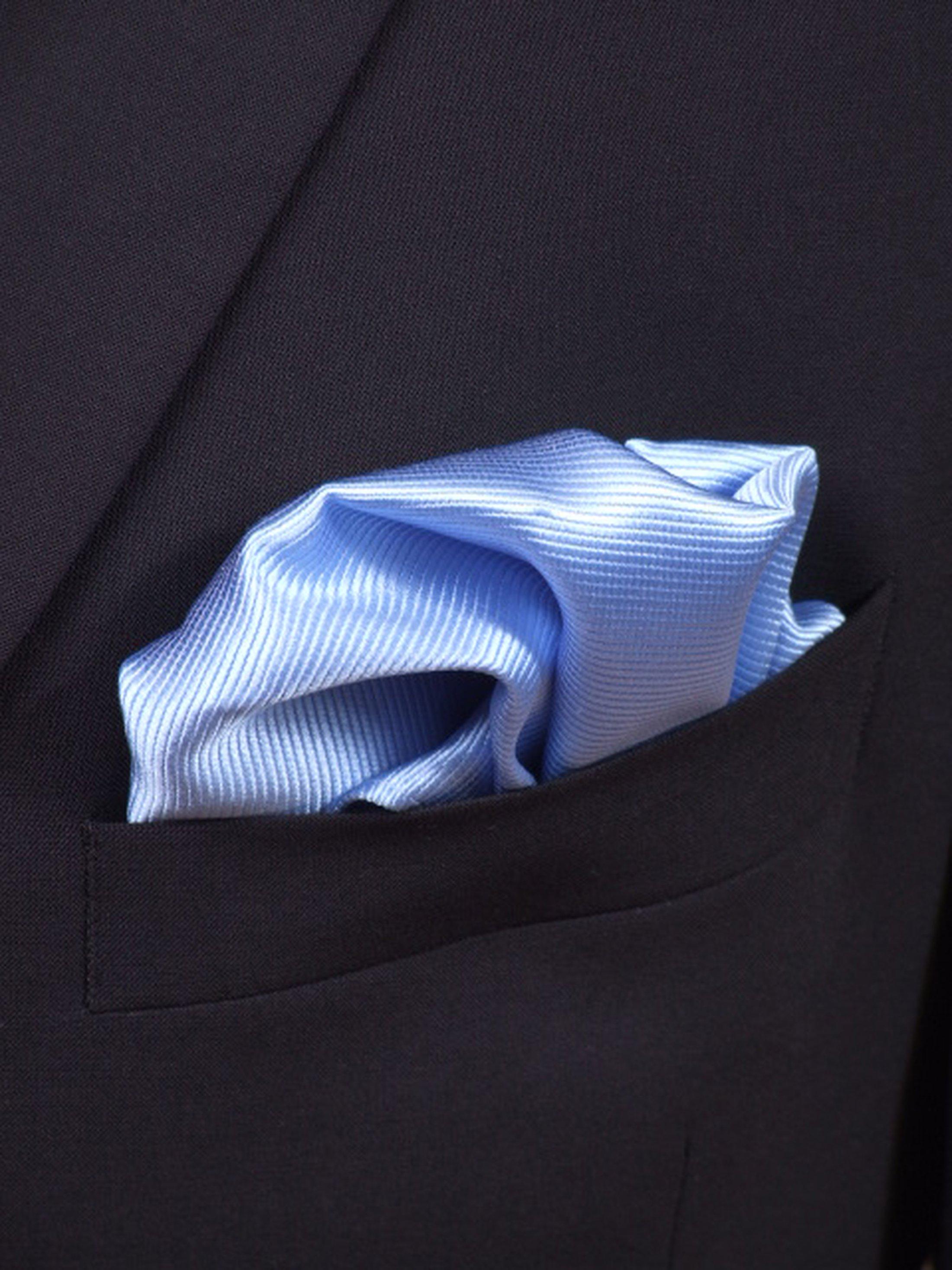 Pocket Square Silk Blue F02 foto 1