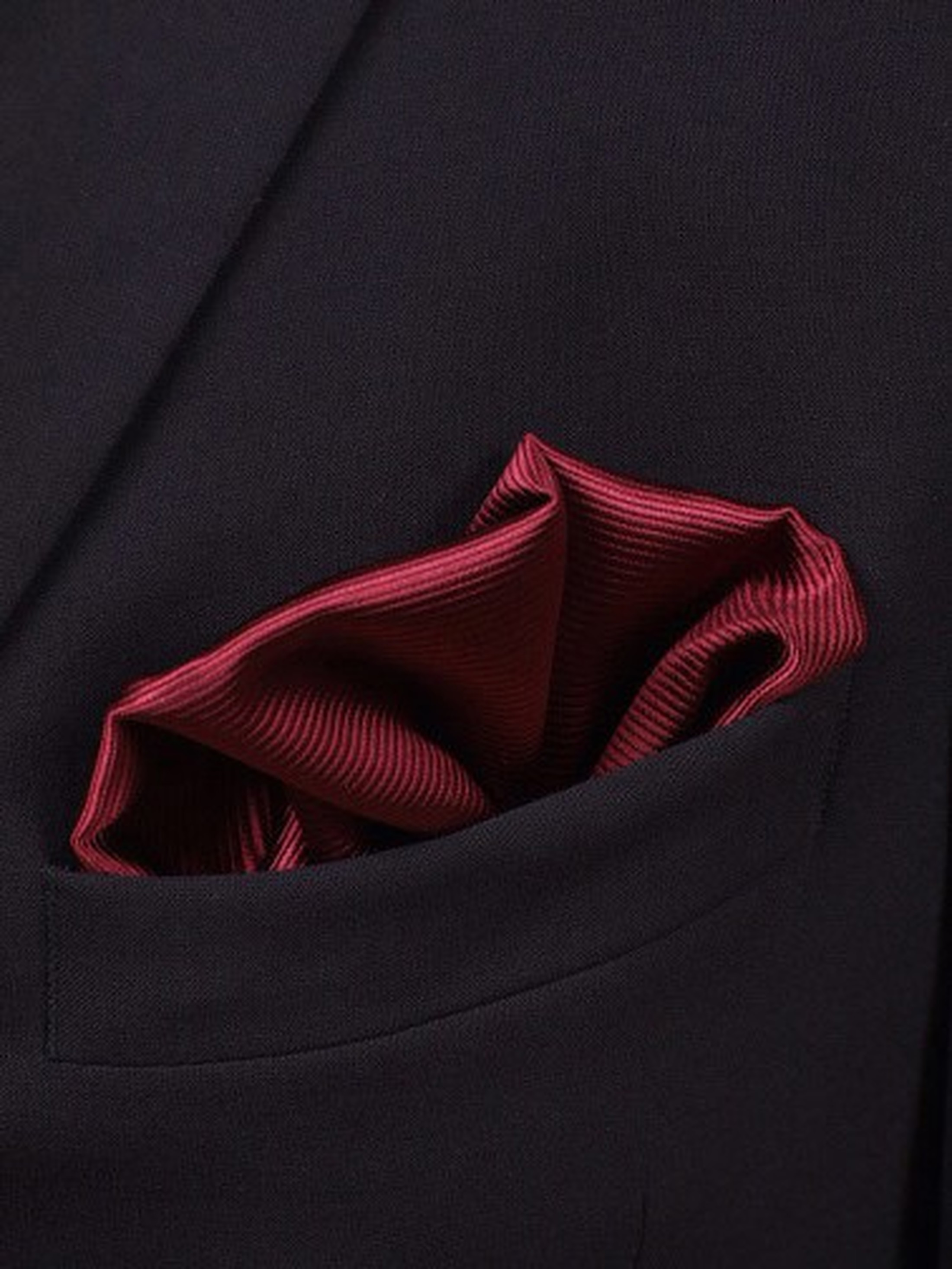 Pocket Square Silk Bordeaux F31 foto 1