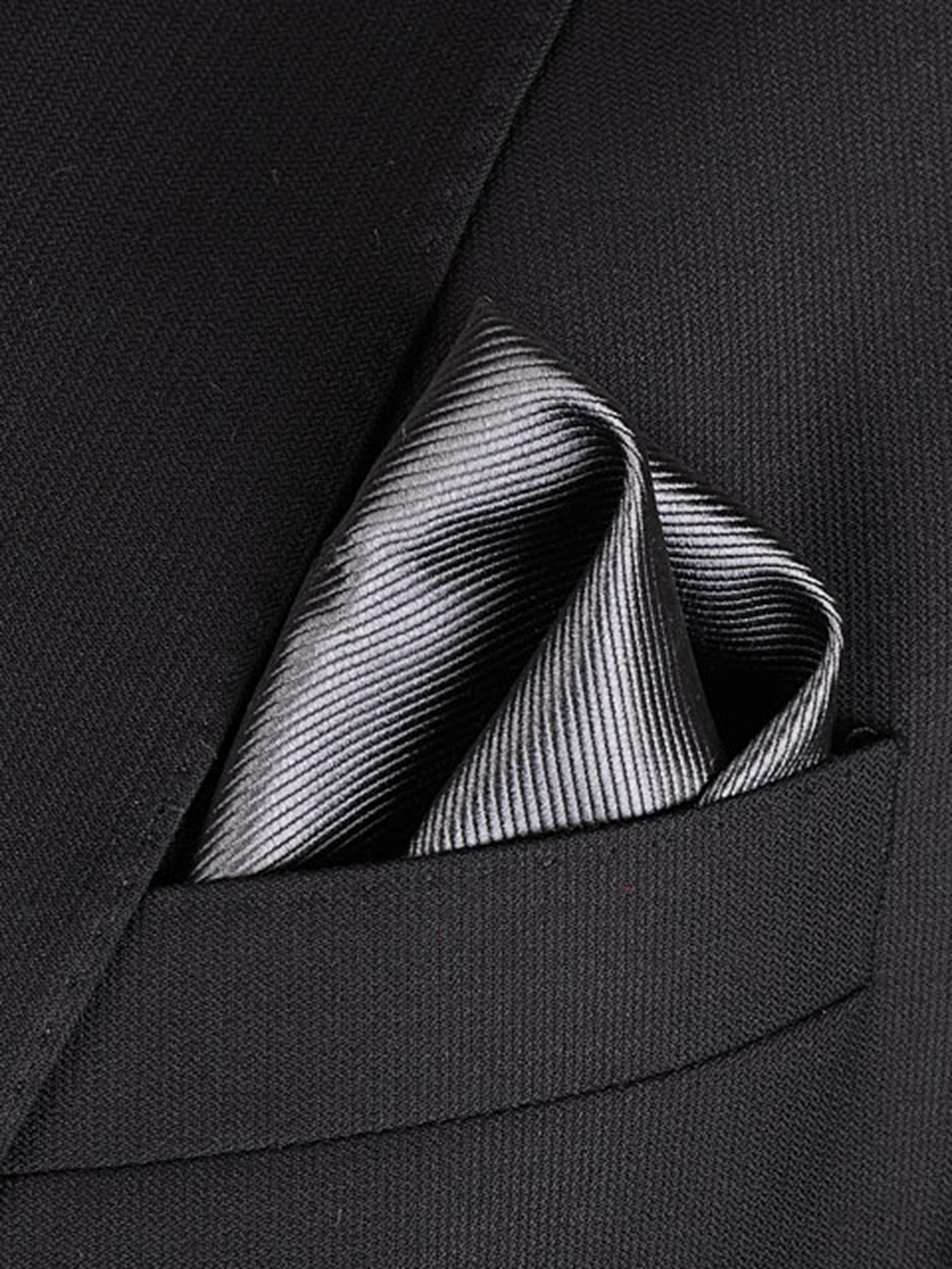 Pocket Square Silk Dark Grey F53