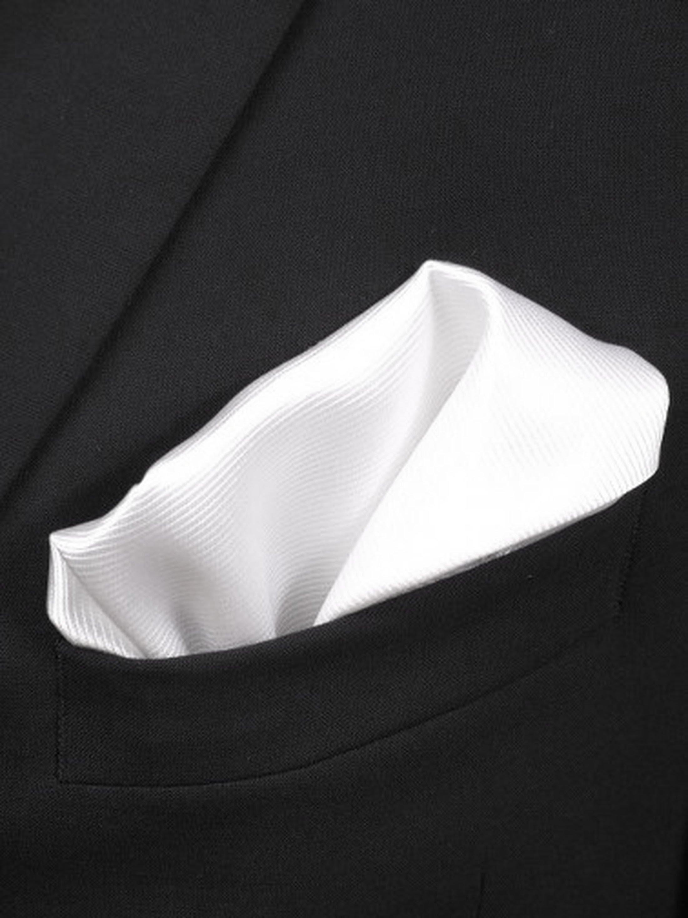 Pocket Square Silk White F27
