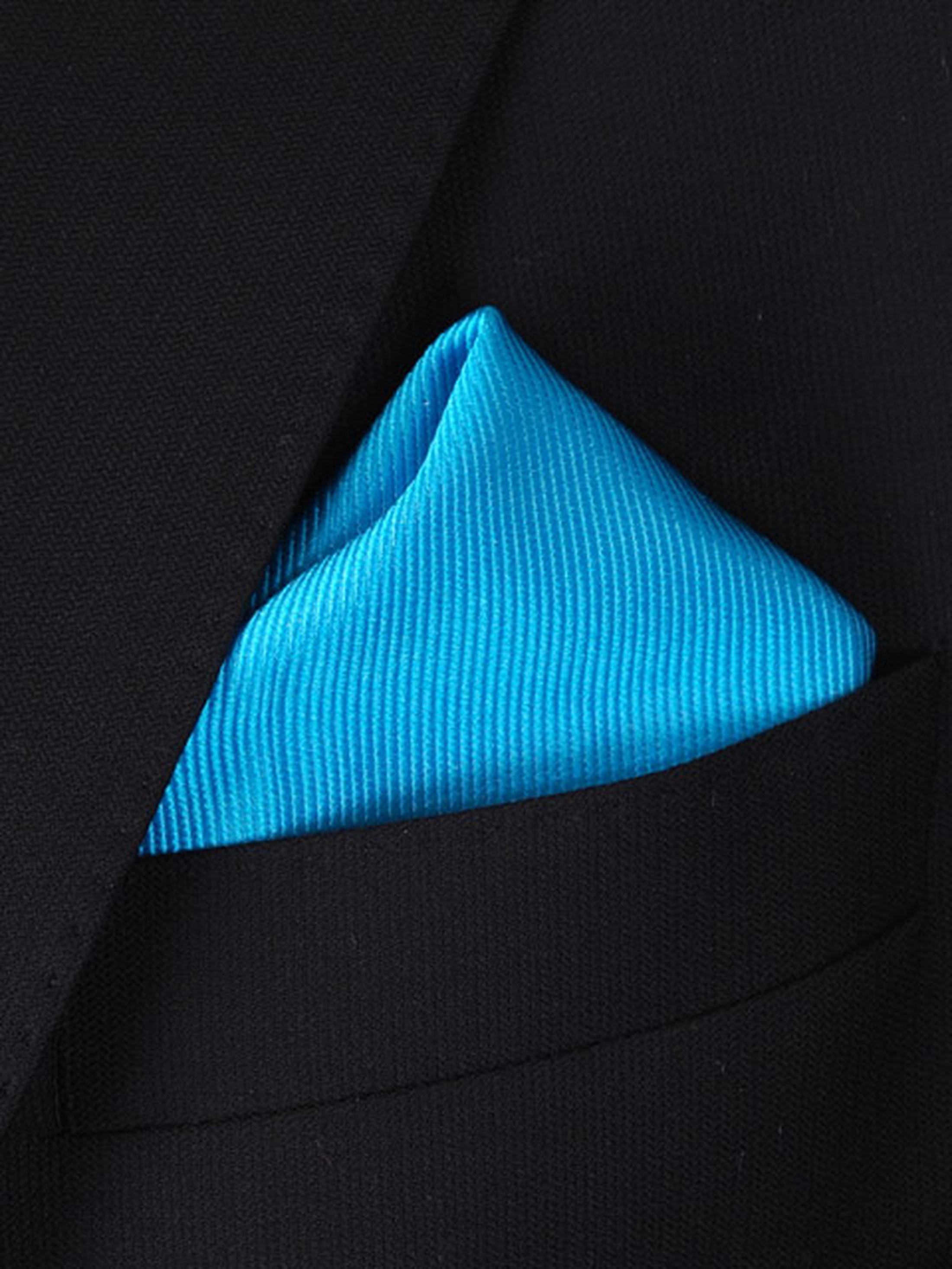 Pocket Square Turquoise F24 foto 1