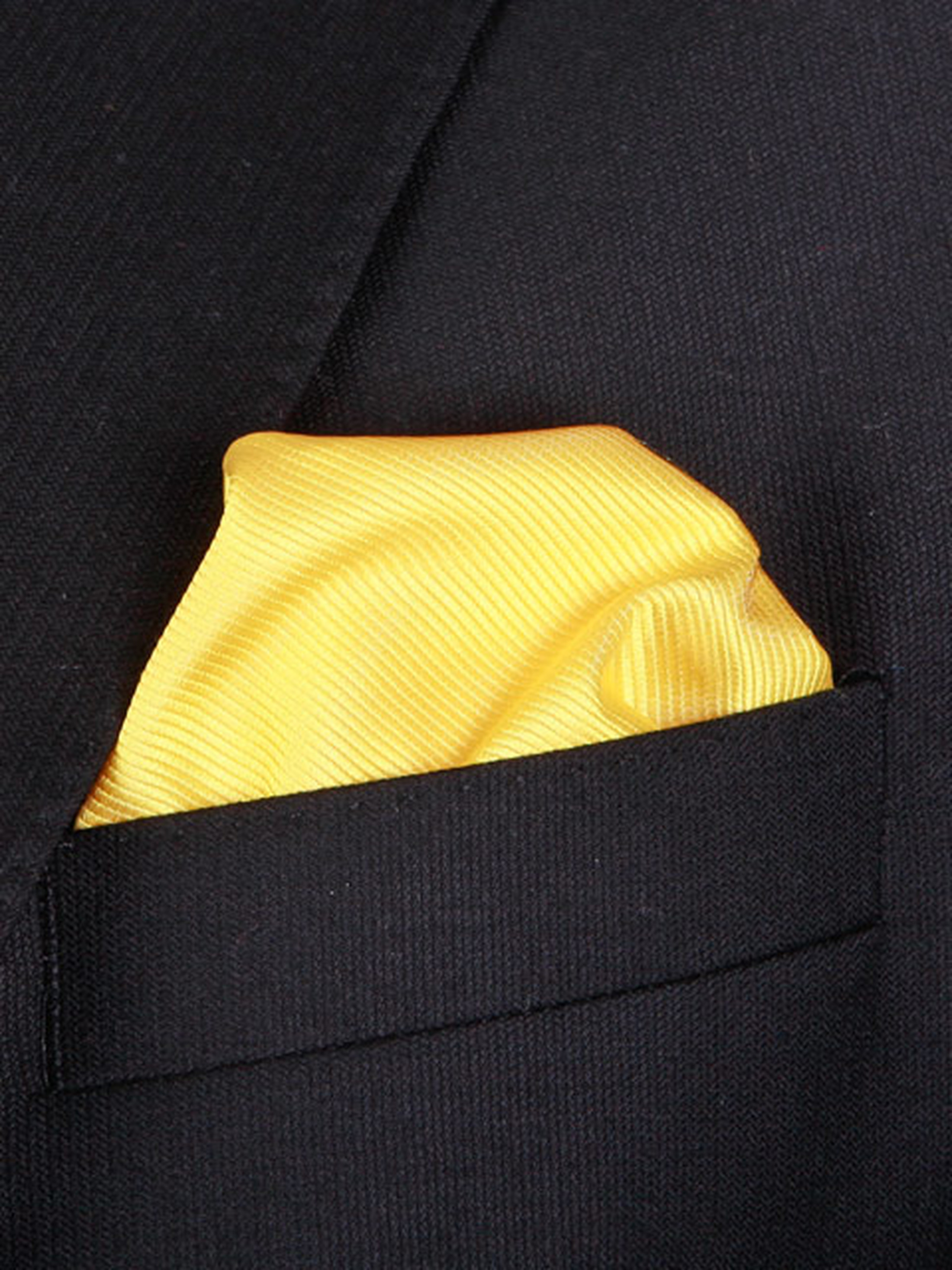 Pocket Square Yellow F70 photo 1