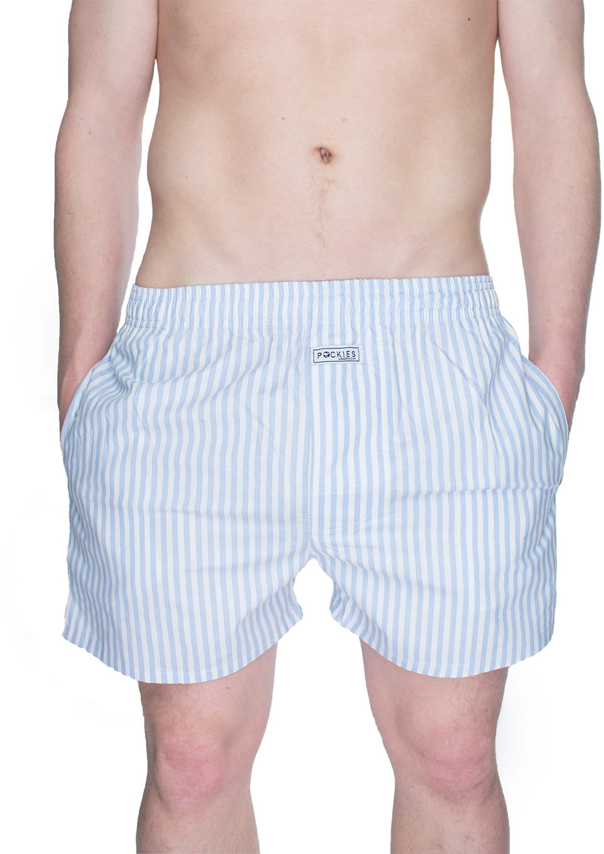 Pockies Boxershort Lichtblauw Strepen foto 2