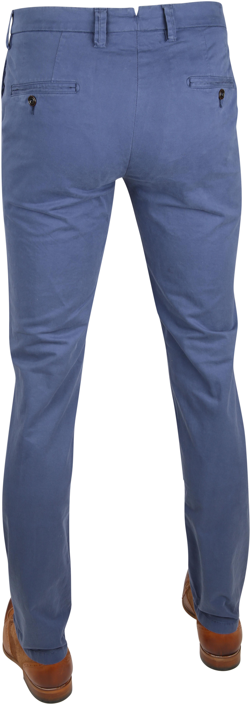 Profuomo Chino Garment DYE Blauw foto 3