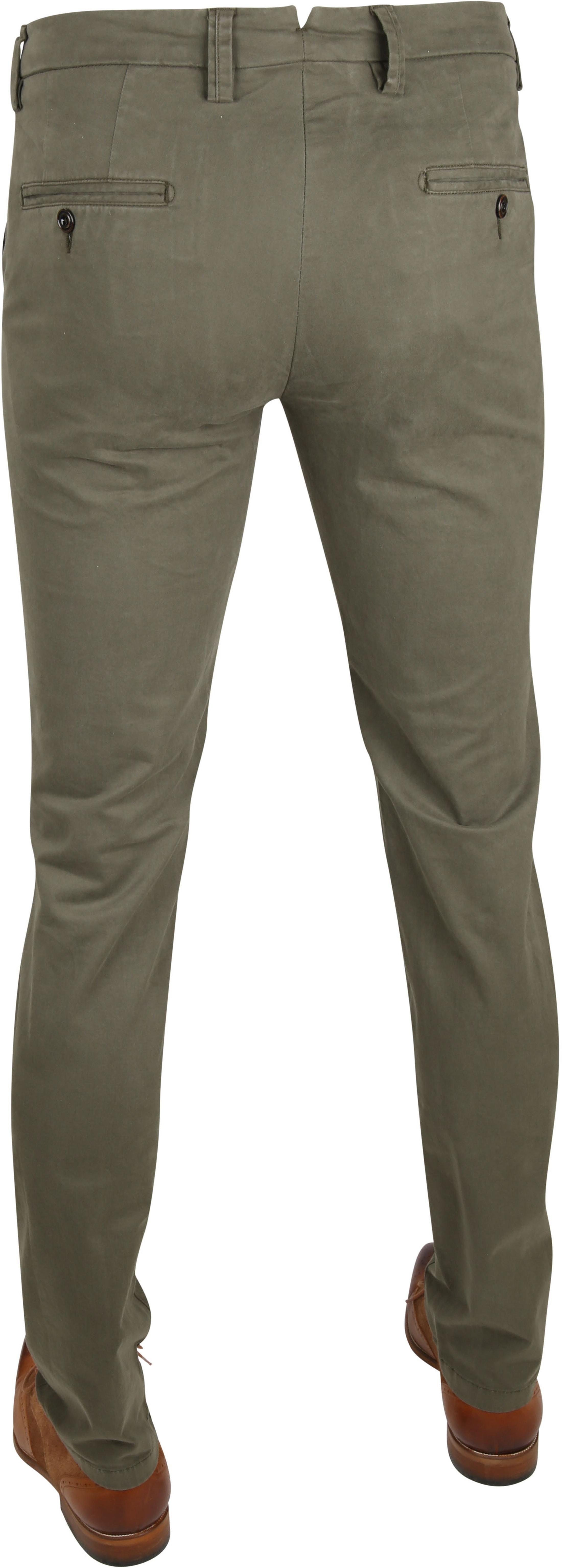 Profuomo Chino Garment DYE Green foto 3