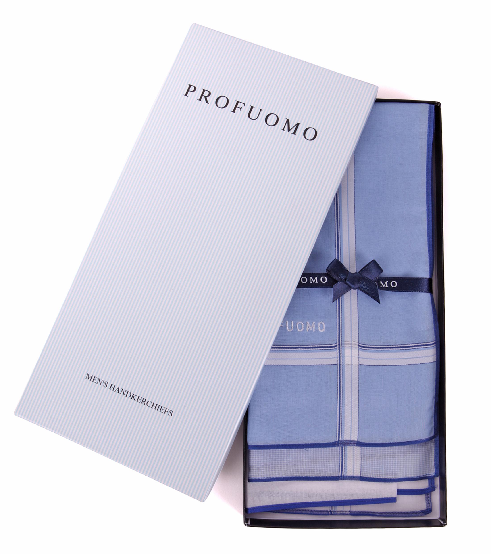 Profuomo Handkerchief Set Blue