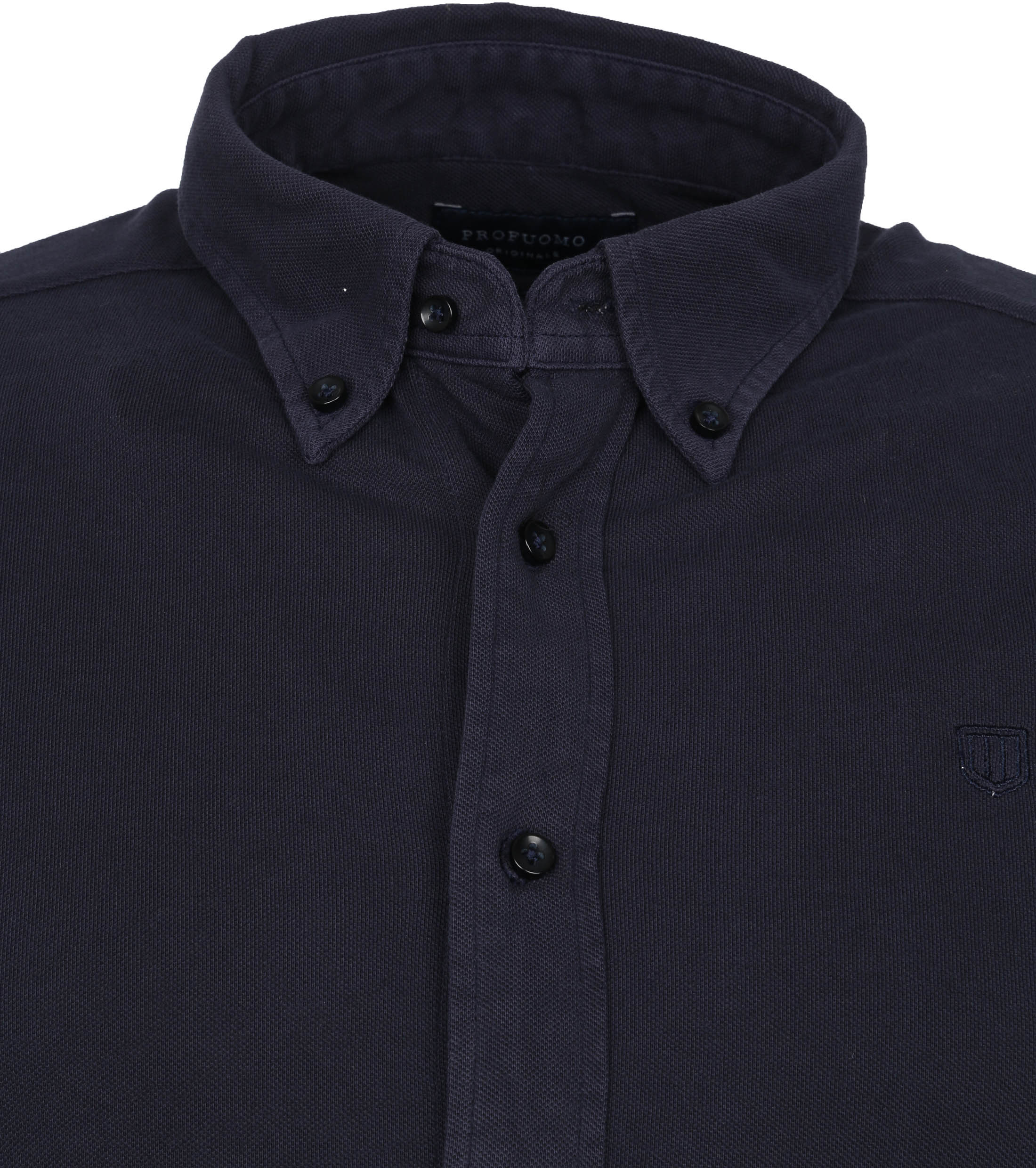 Profuomo Hemd Garment Dyed Button Down Donkerblauw