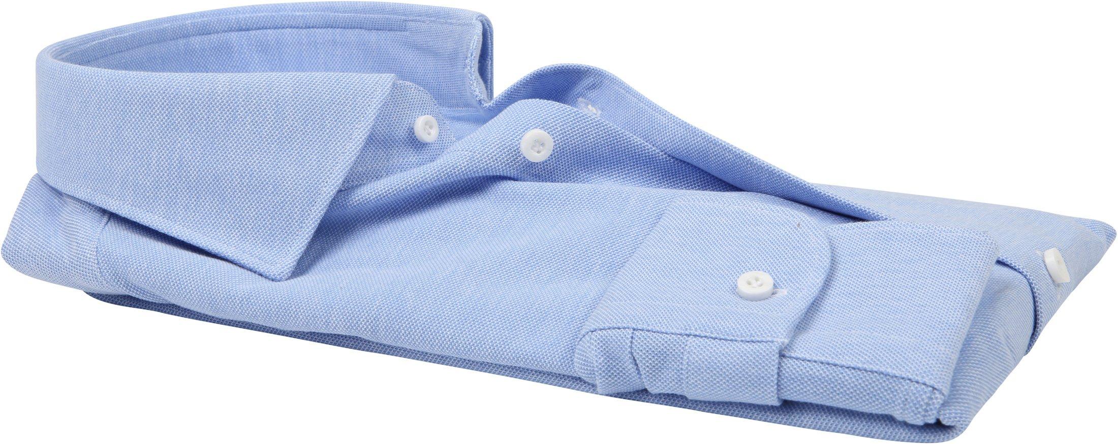 Profuomo Hemd Knitted Slim Fit Blau Foto 3