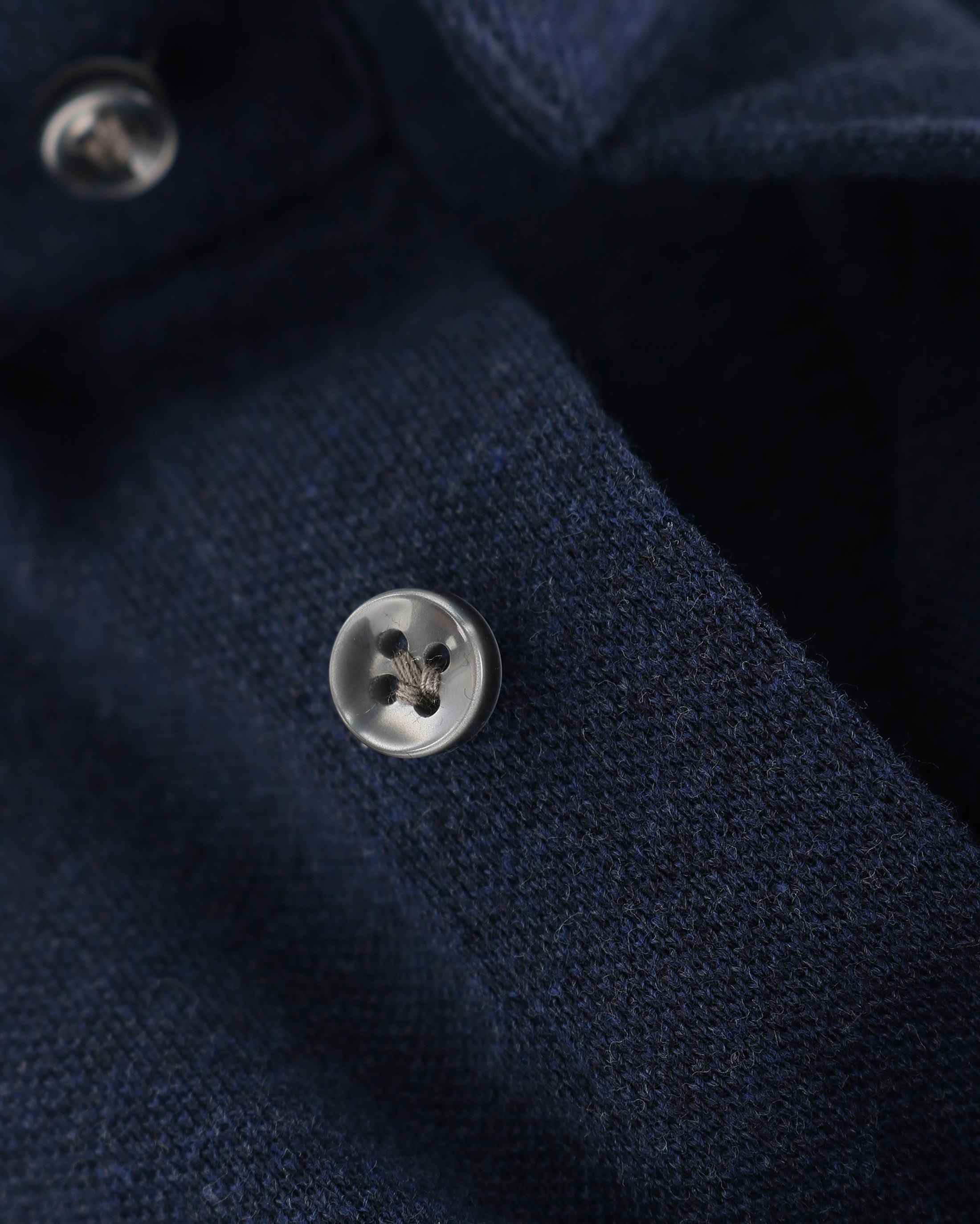 Profuomo Hemd Knitted Slim Fit Dunkelblau Foto 3