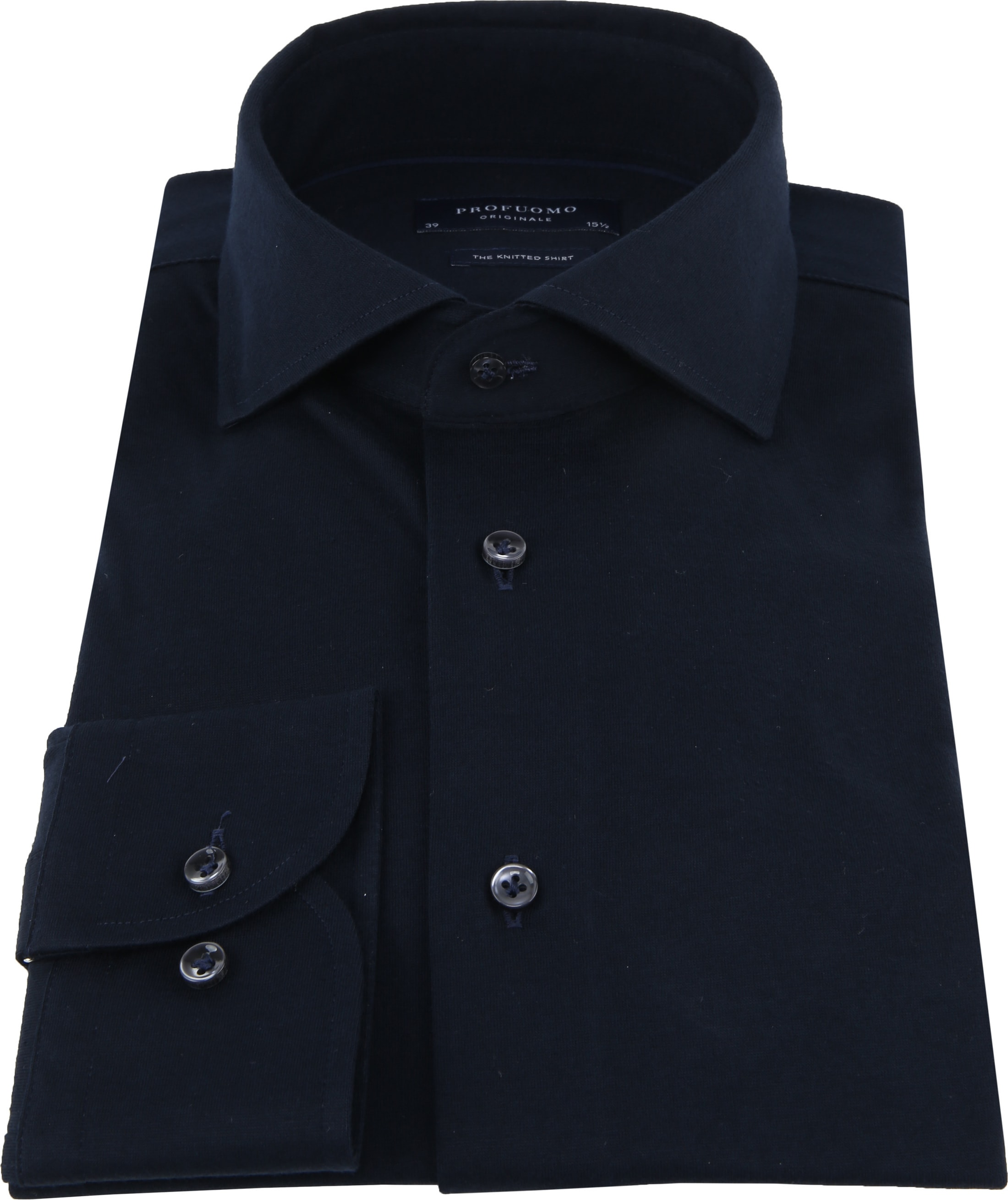 Profuomo Knitted Jersey Hemd Navy