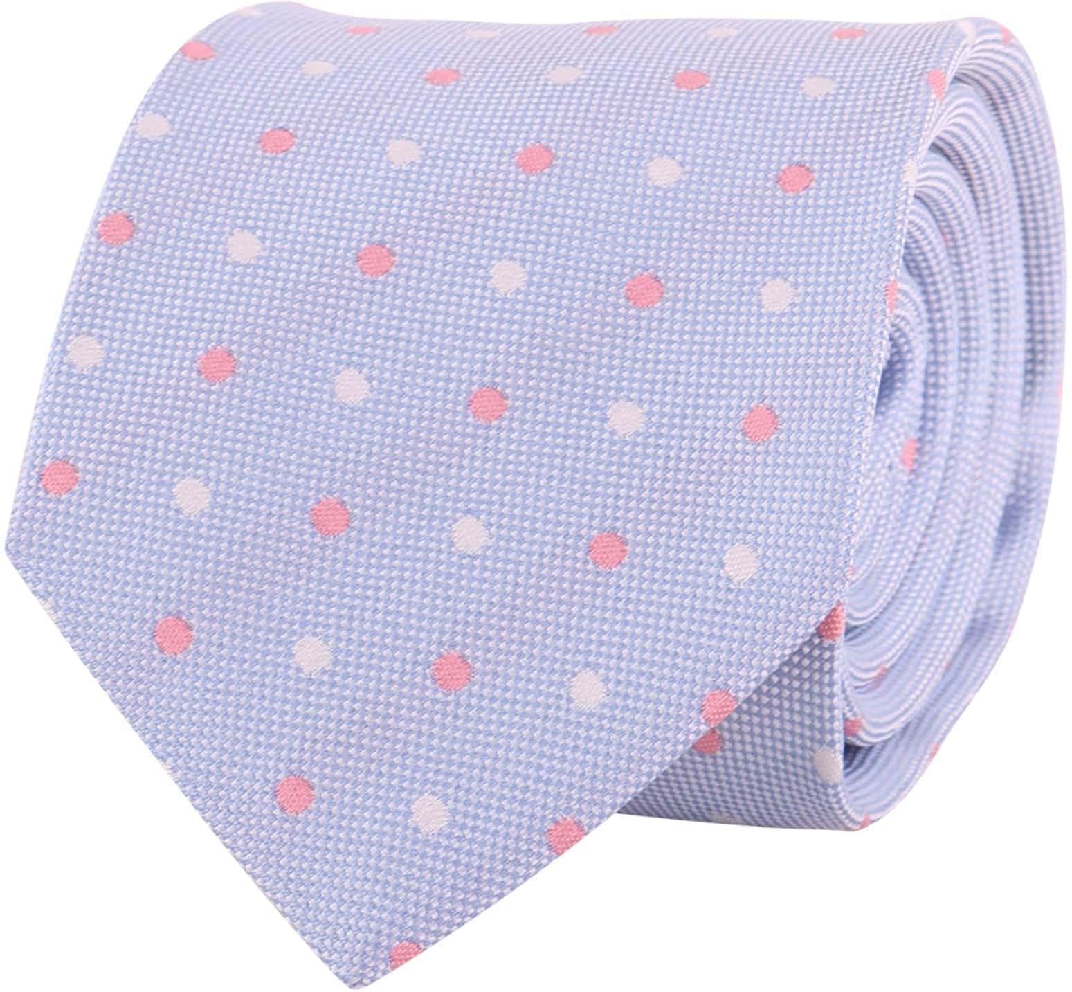 Profuomo Krawatte Blau Punkt