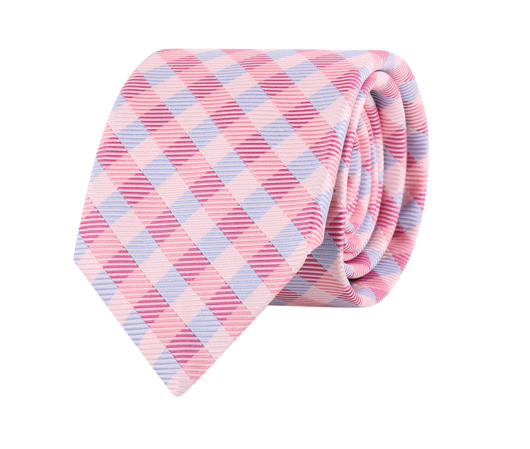 Profuomo Krawatte Rosa + Blau foto 0