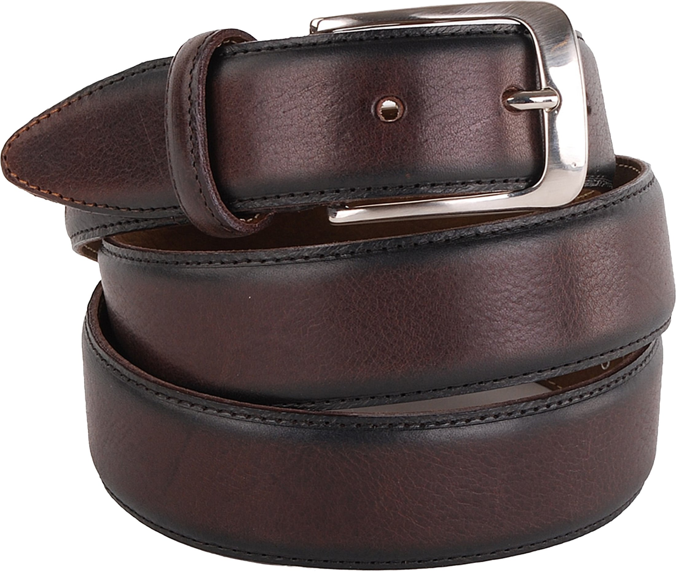 Profuomo Leather Belt Polish Brown foto 0