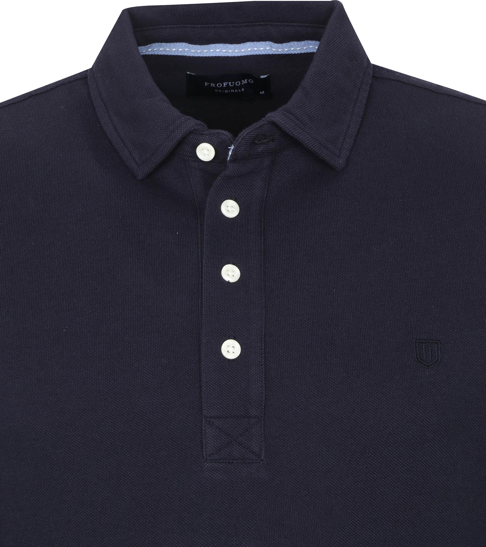 Profuomo Long Sleeve Polo Donkerblauw