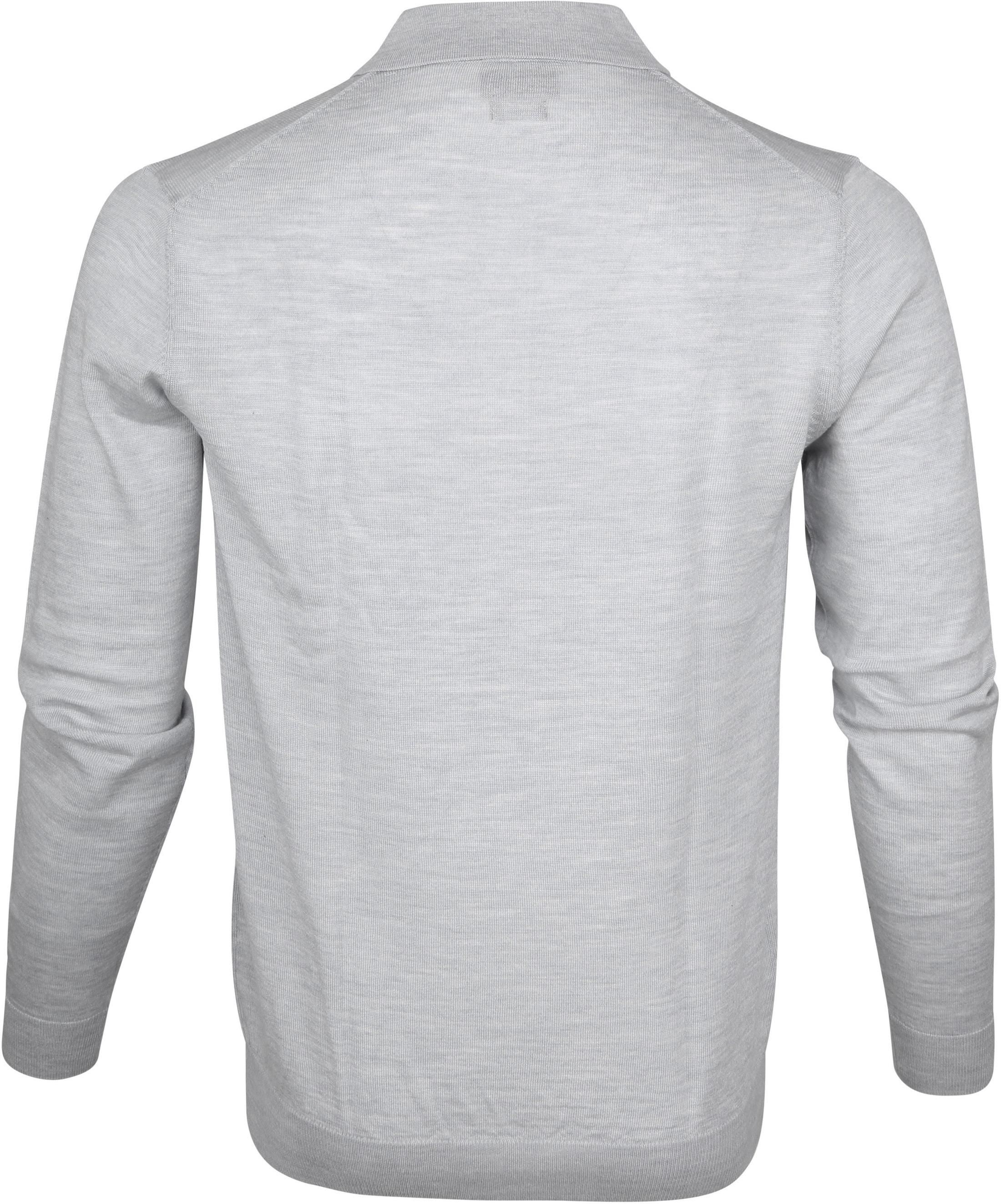 Profuomo Longsleeve Poloshirt Grey foto 3