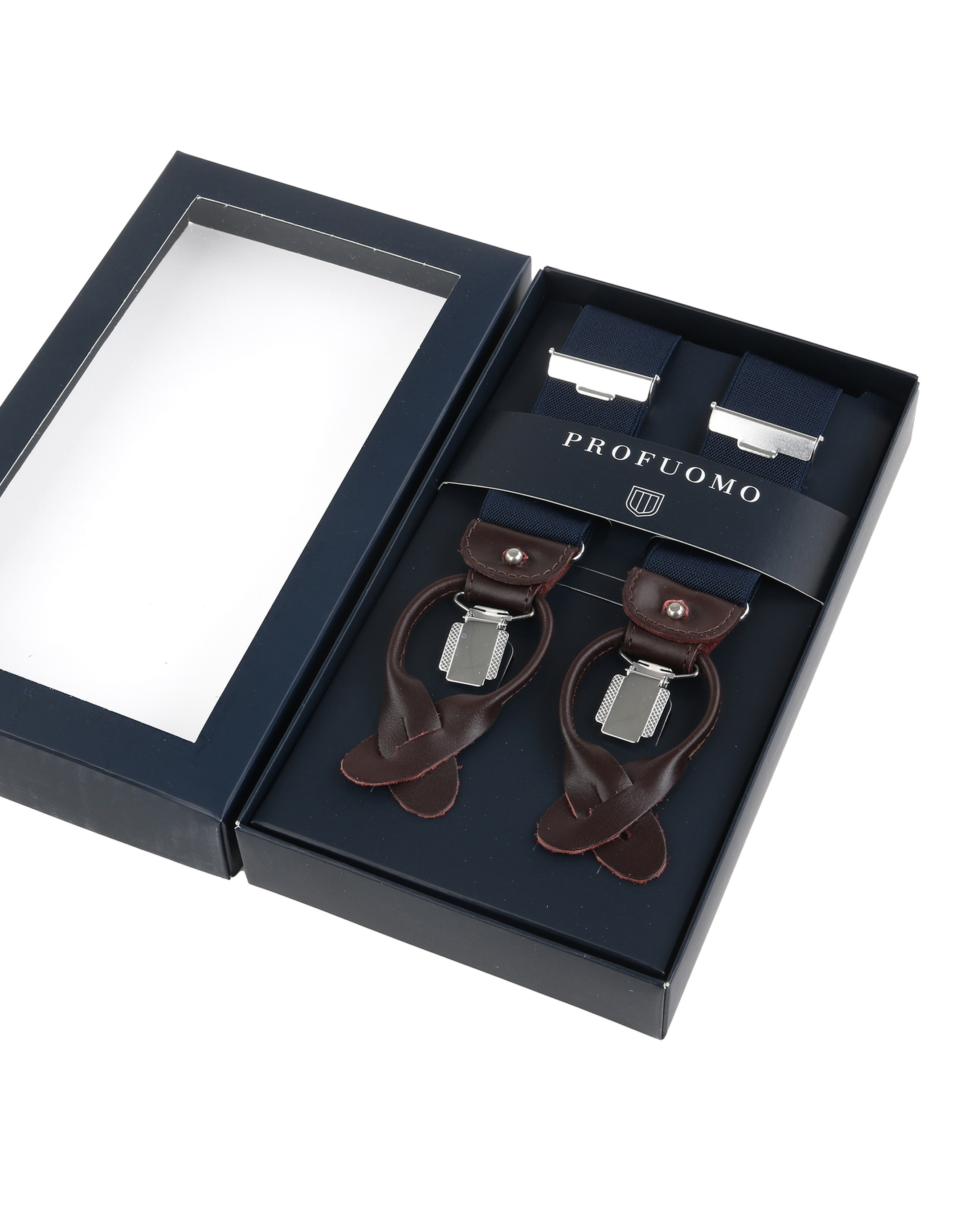 Profuomo Luxury Suspenders Dark Blue foto 2