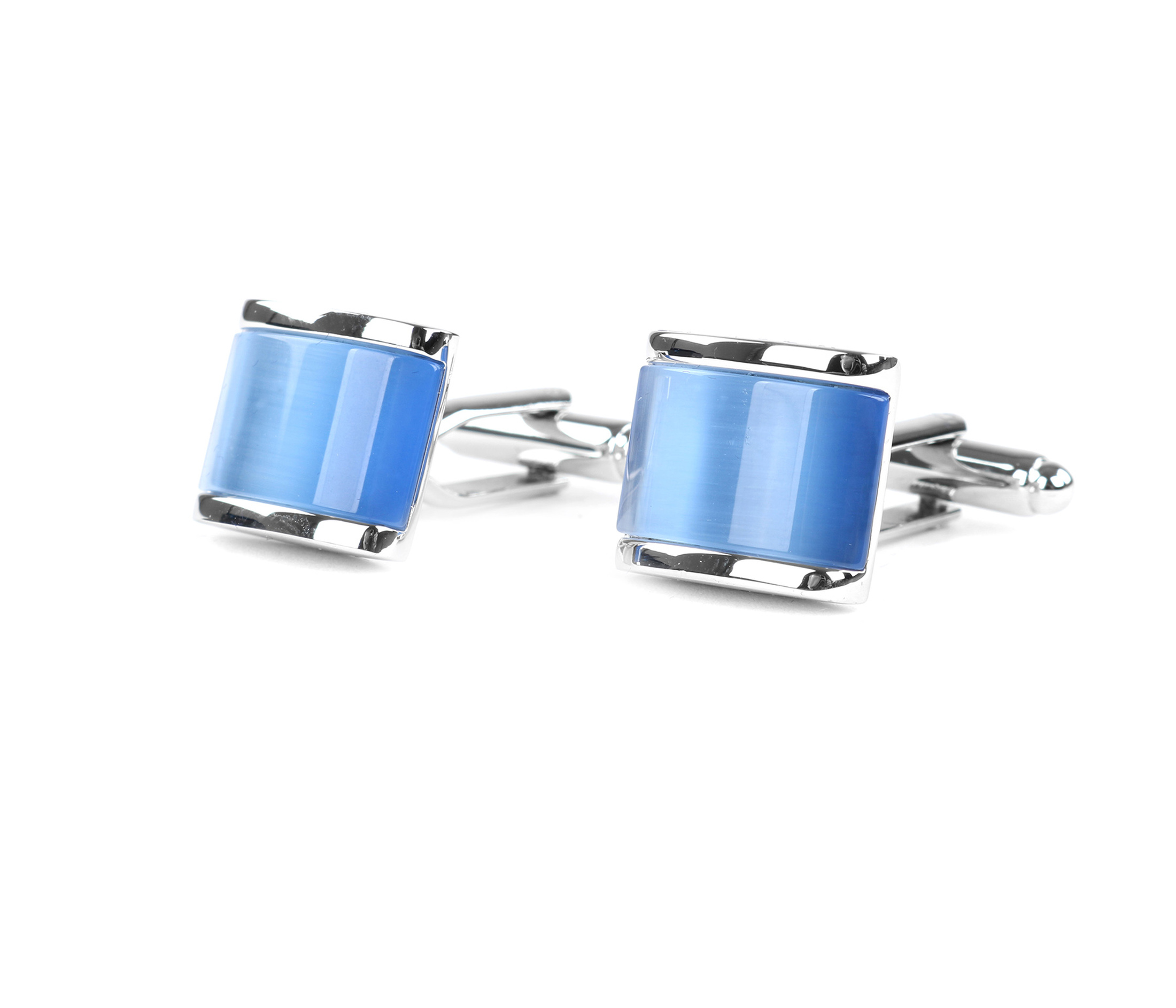 Profuomo Manchetknopen Zilver Blauw foto 0