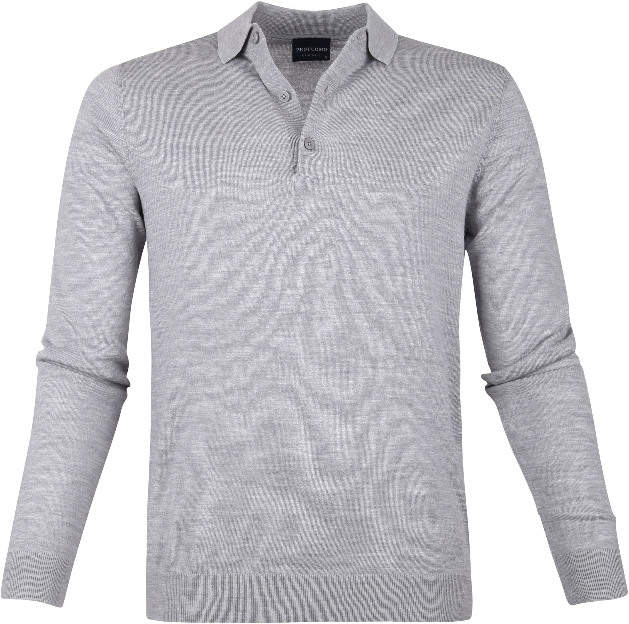 Profuomo Merino Poloshirt Grey photo 0