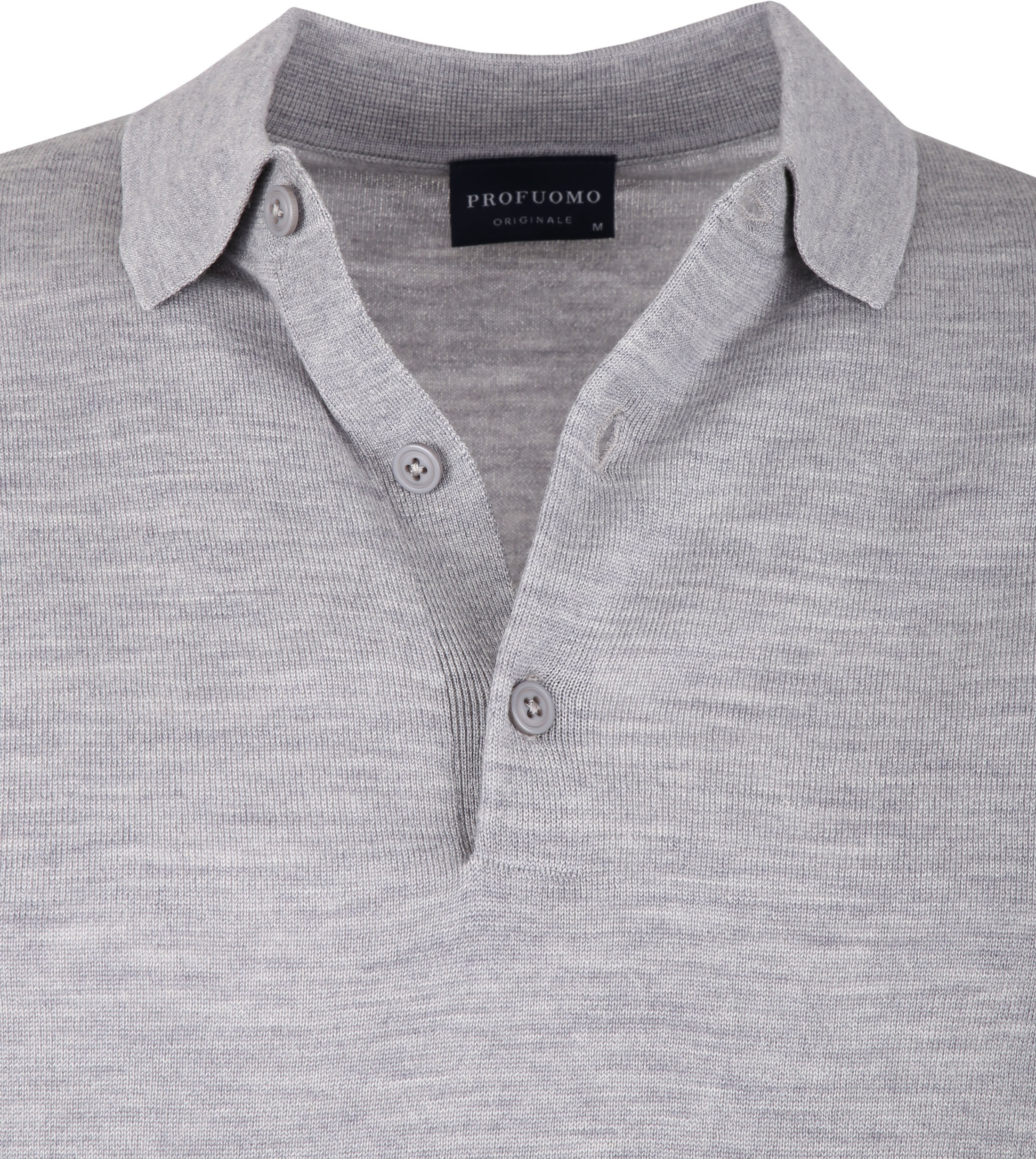 Profuomo Merino Poloshirt Grey photo 1