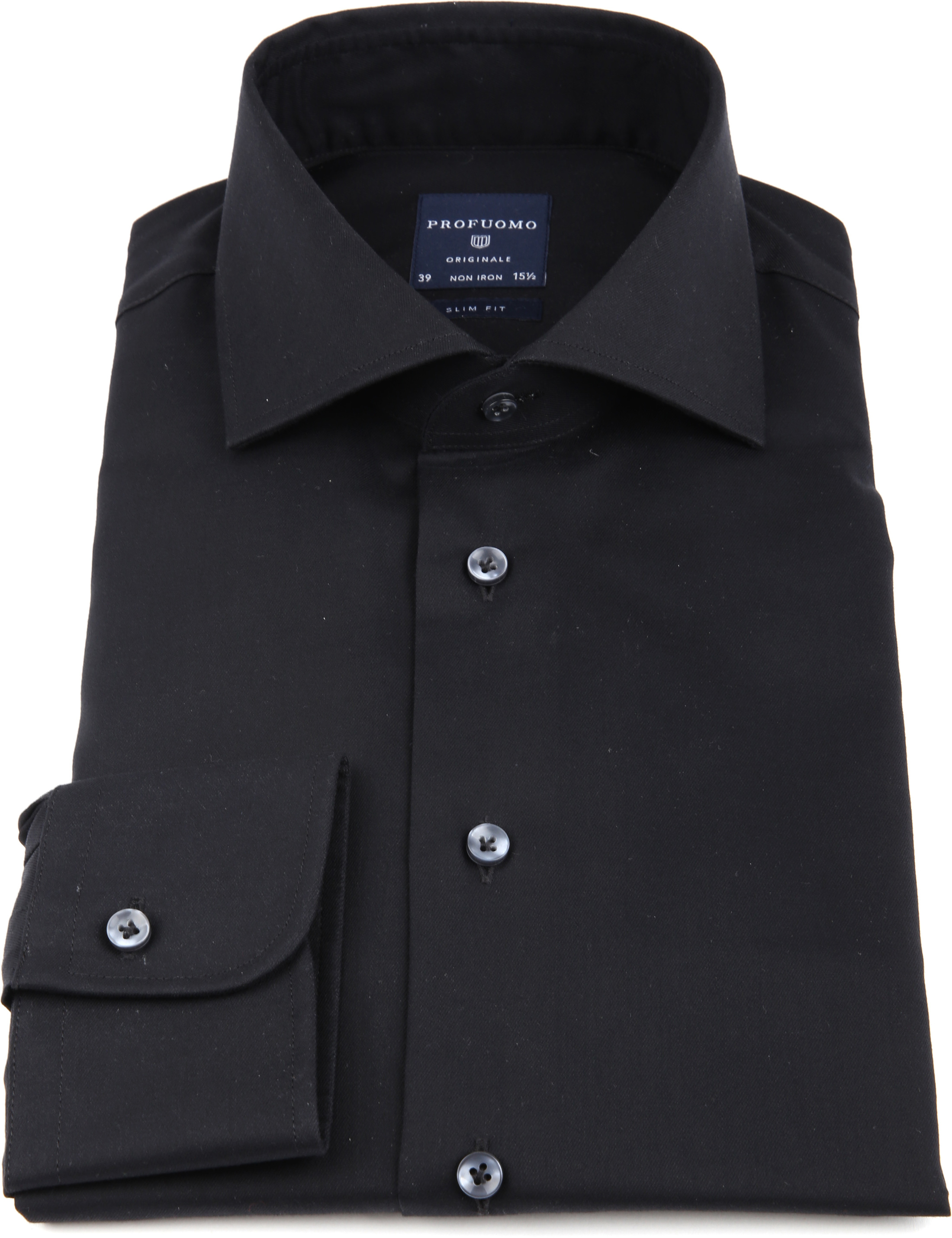 Profuomo Non Iron Shirt Black foto 2