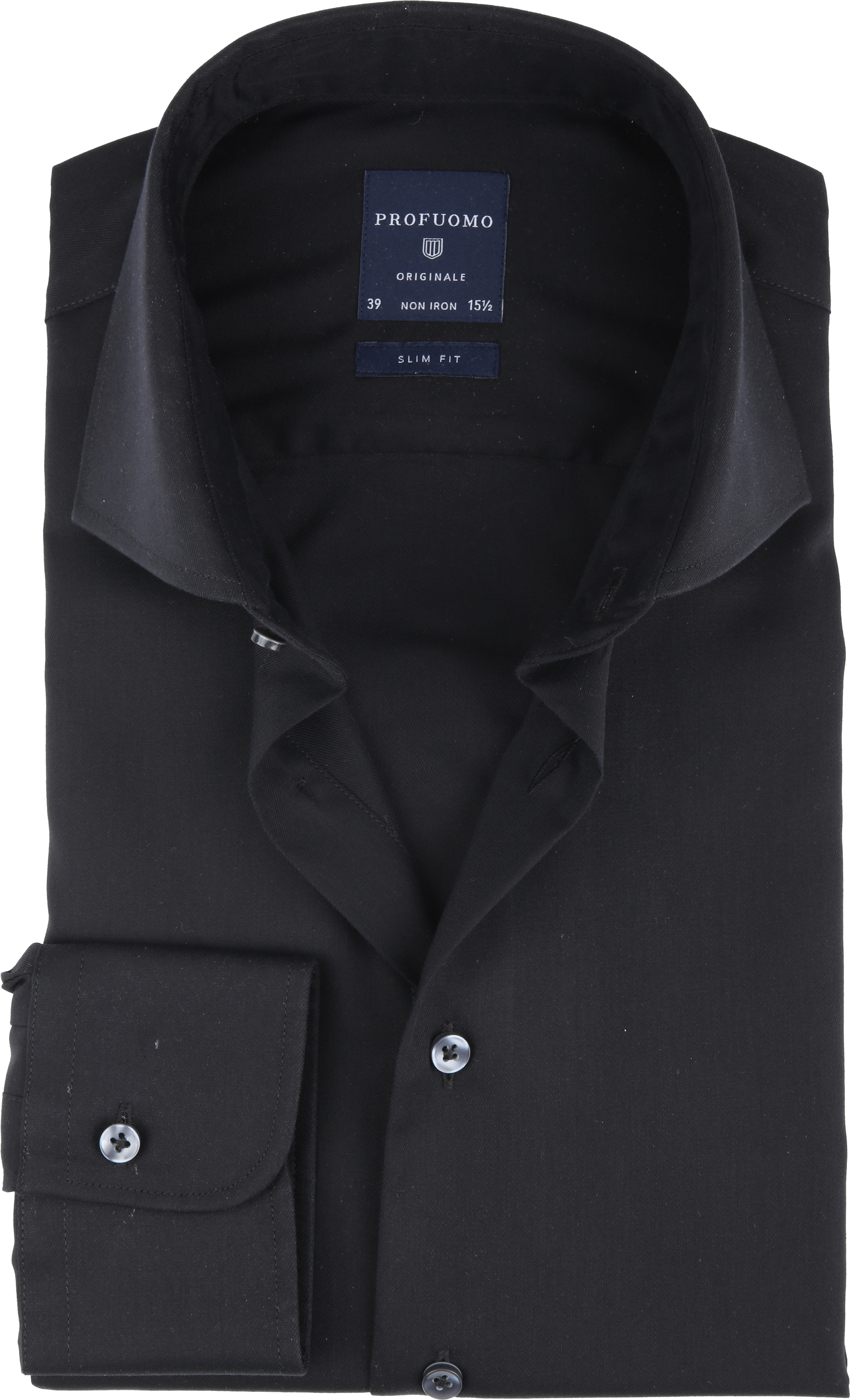 Profuomo Non Iron Shirt Black foto 0