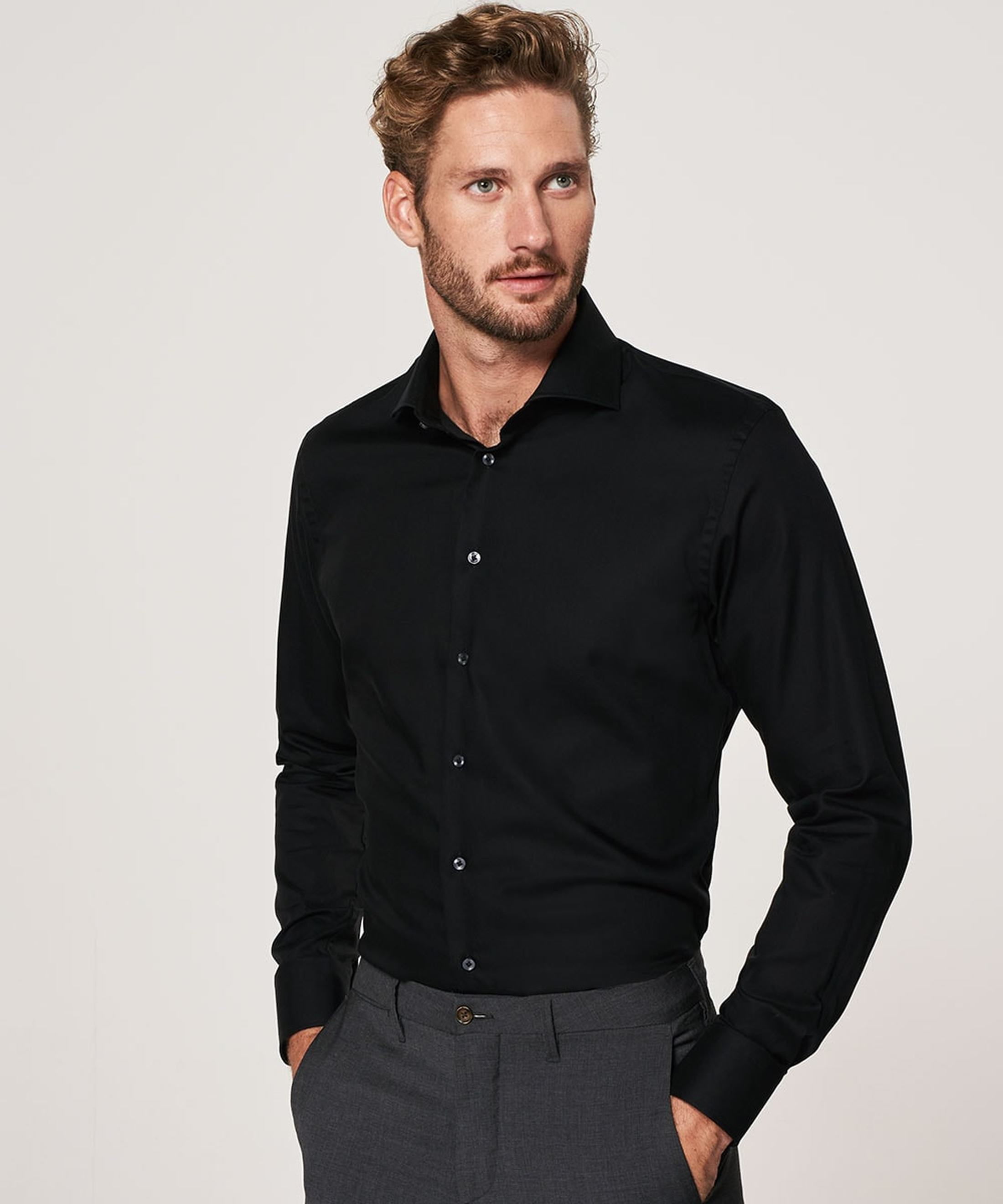 Profuomo Non Iron Shirt Black foto 4