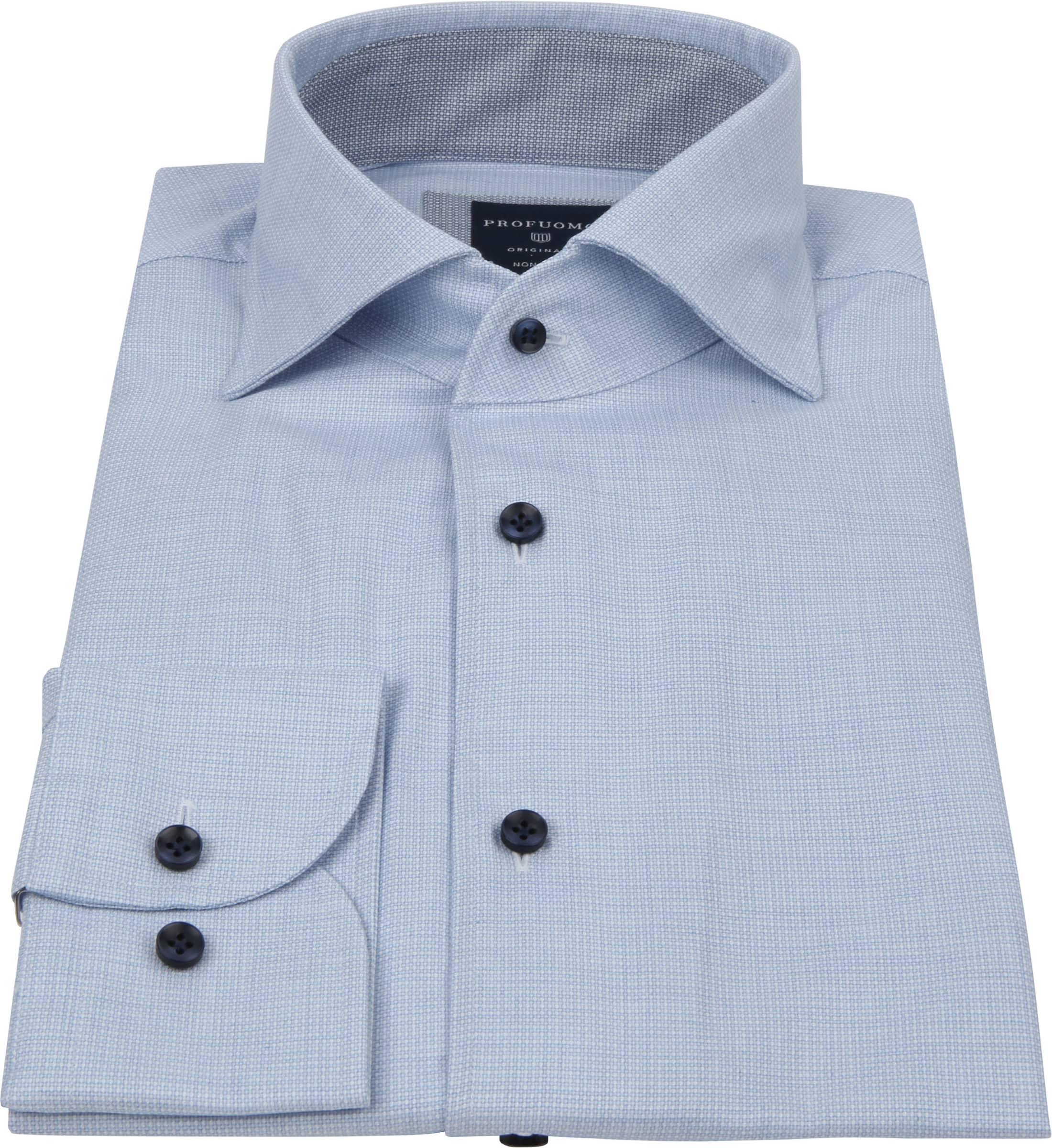 Profuomo Originale Overhemd Print Blauw