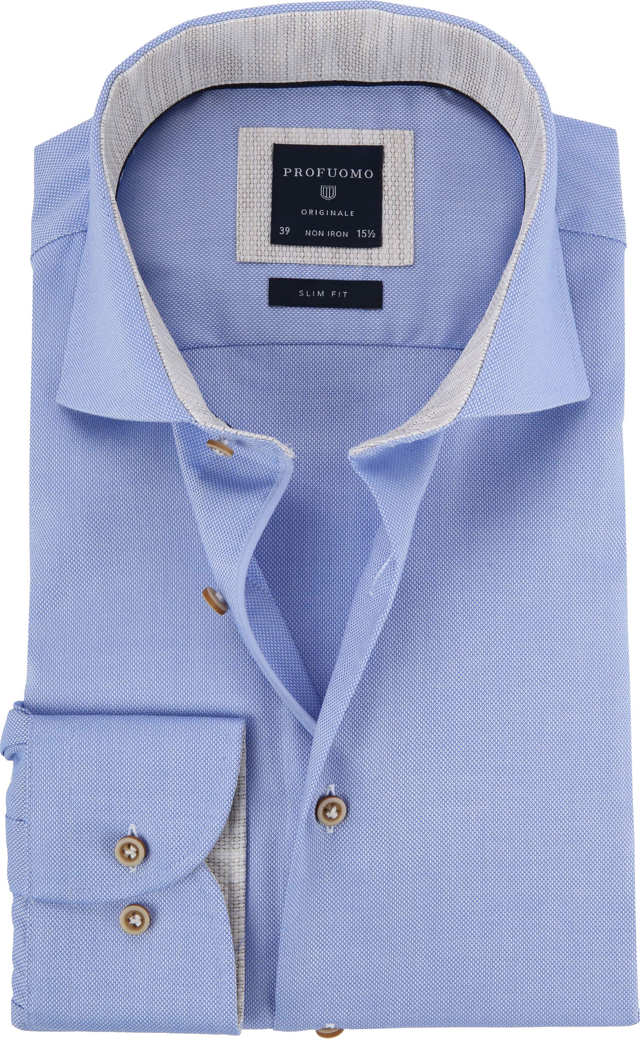 Profuomo Overhemd Blauw CAW foto 0