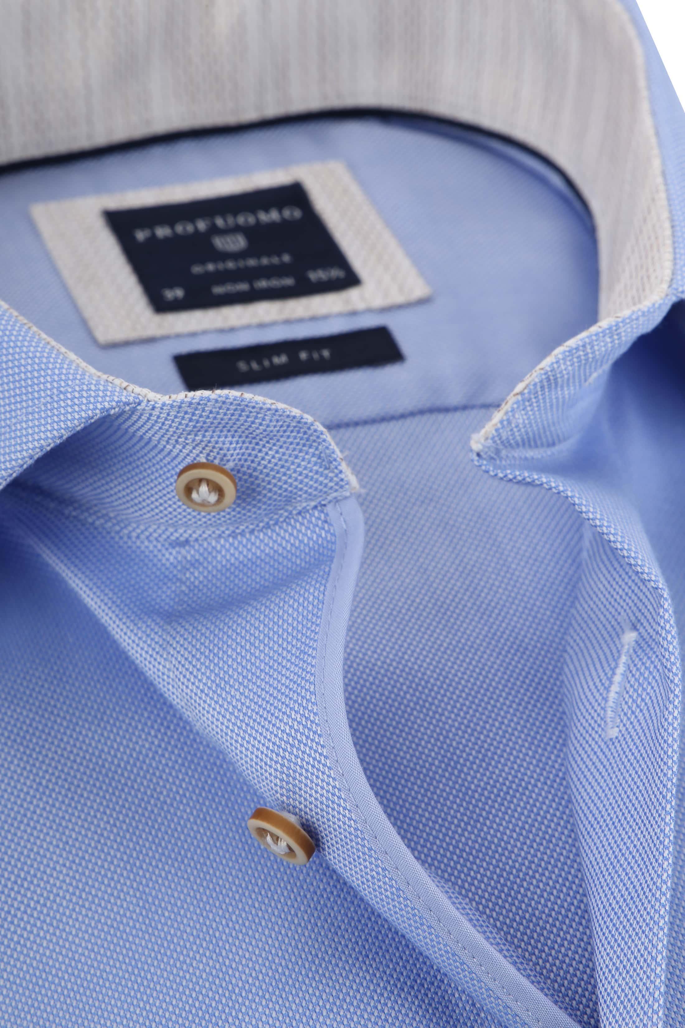 Profuomo Overhemd Blauw CAW foto 1