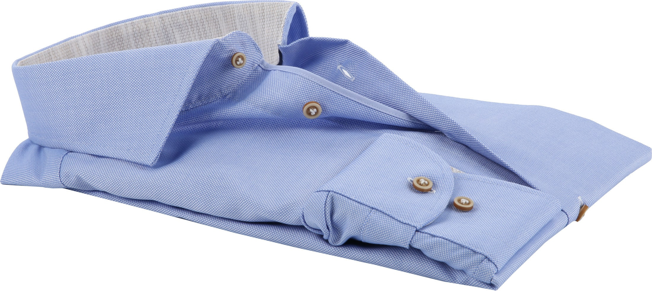 Profuomo Overhemd Blauw CAW foto 2