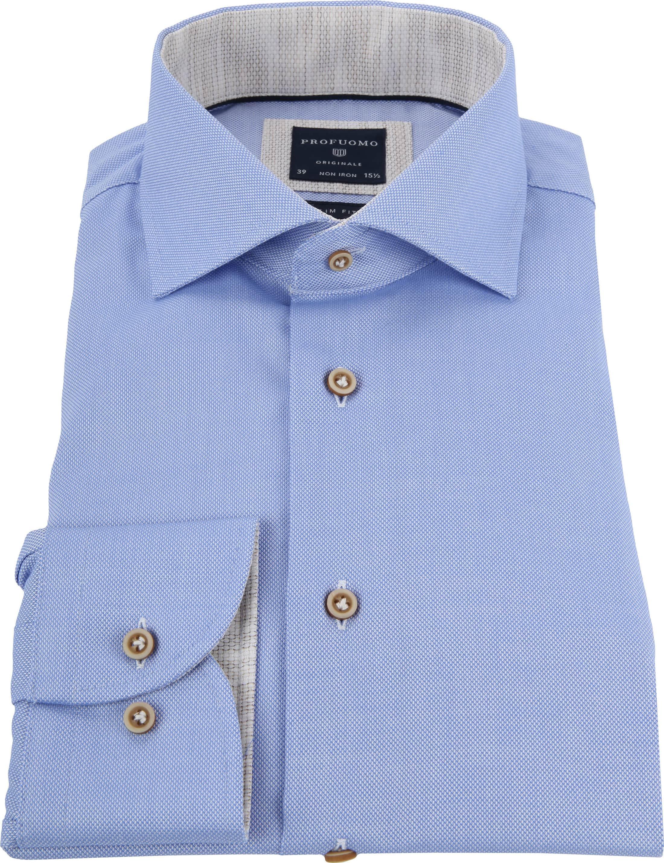 Profuomo Overhemd Blauw CAW foto 3