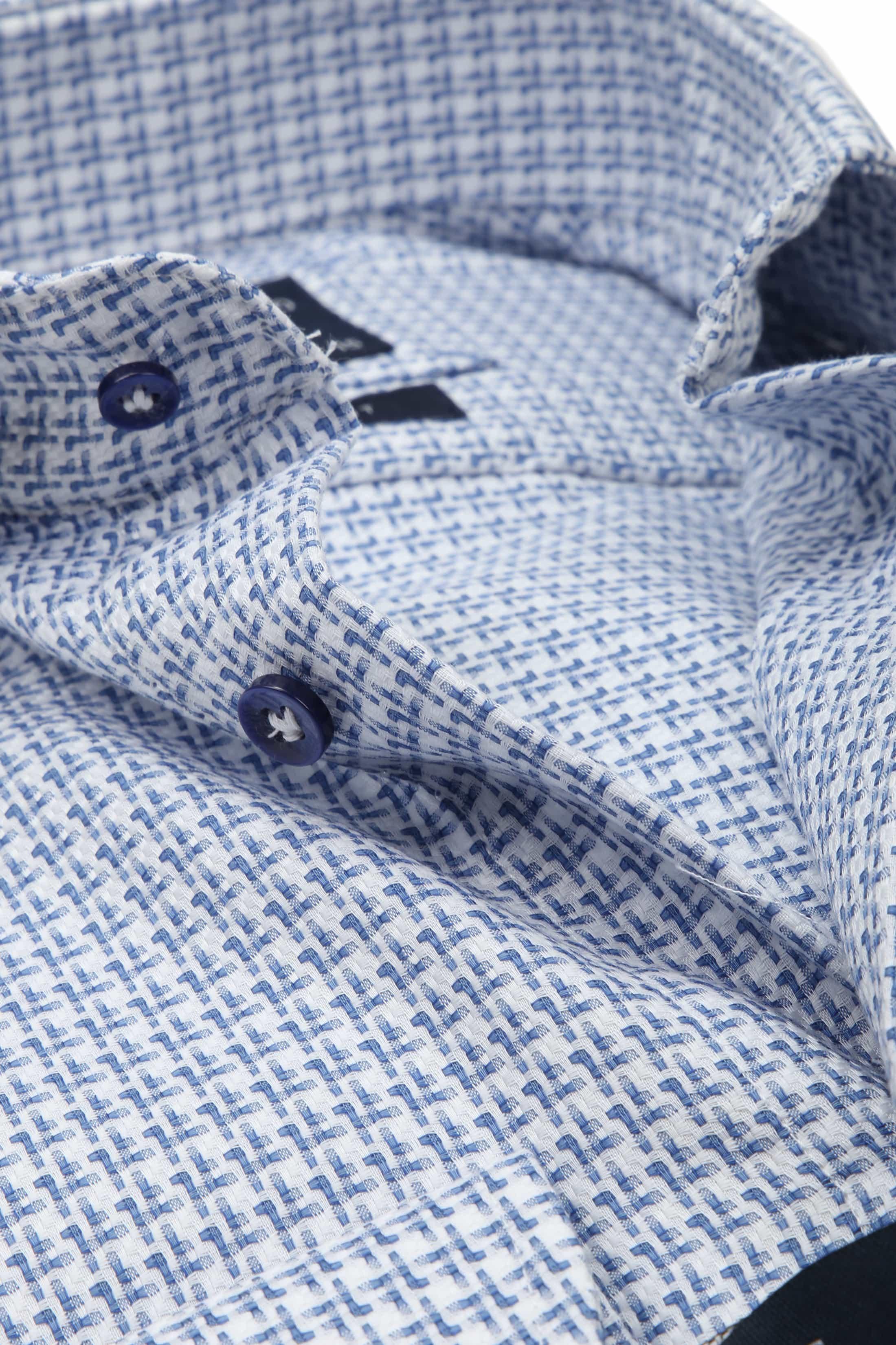 Profuomo Overhemd Blauw Dessin SL7 foto 1