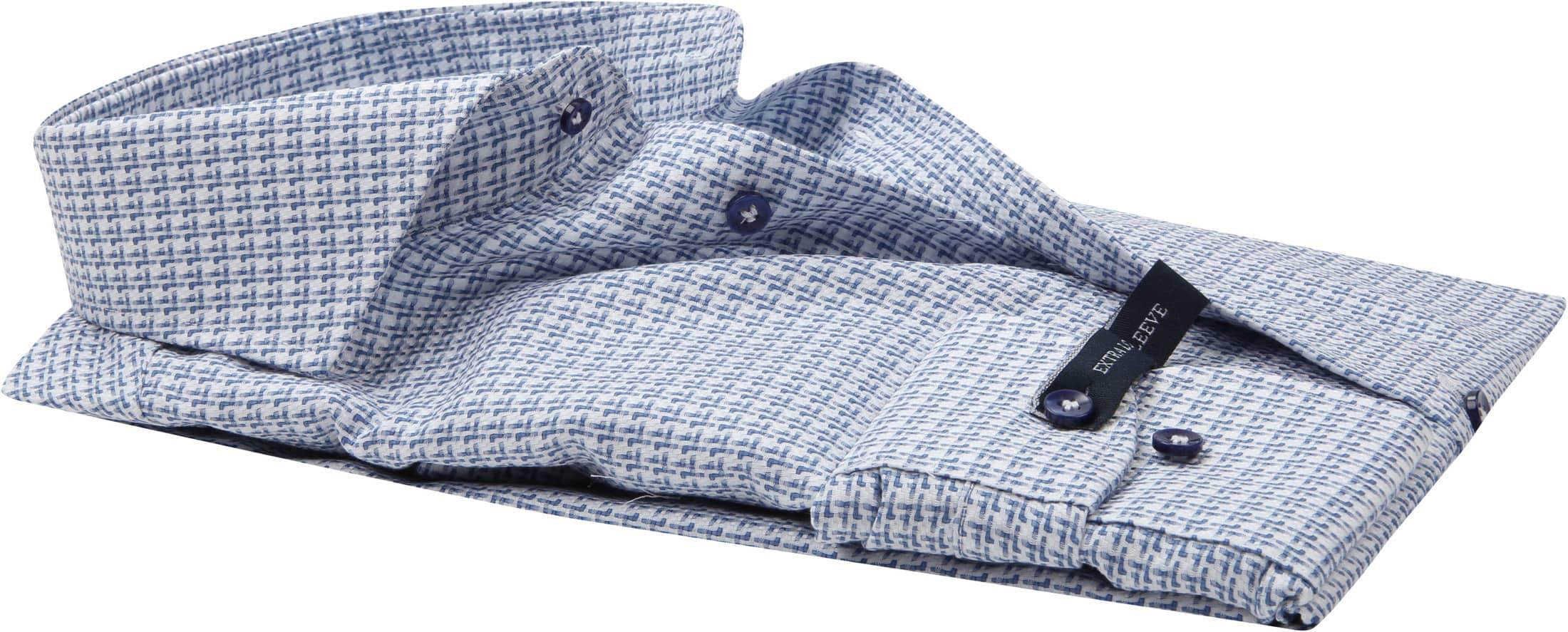 Profuomo Overhemd Blauw Dessin SL7 foto 3