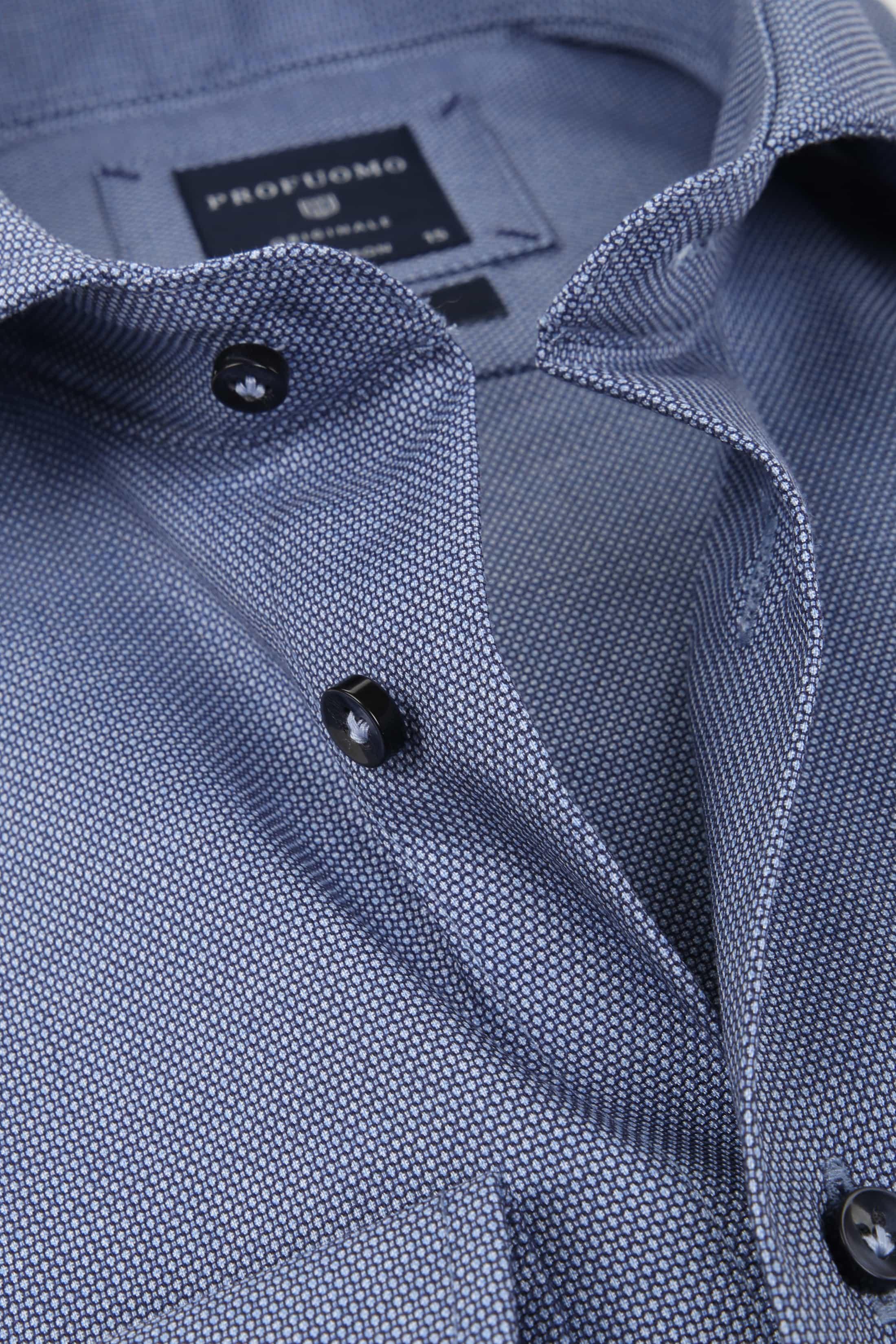 Profuomo Overhemd Blauw SF Dessin foto 1