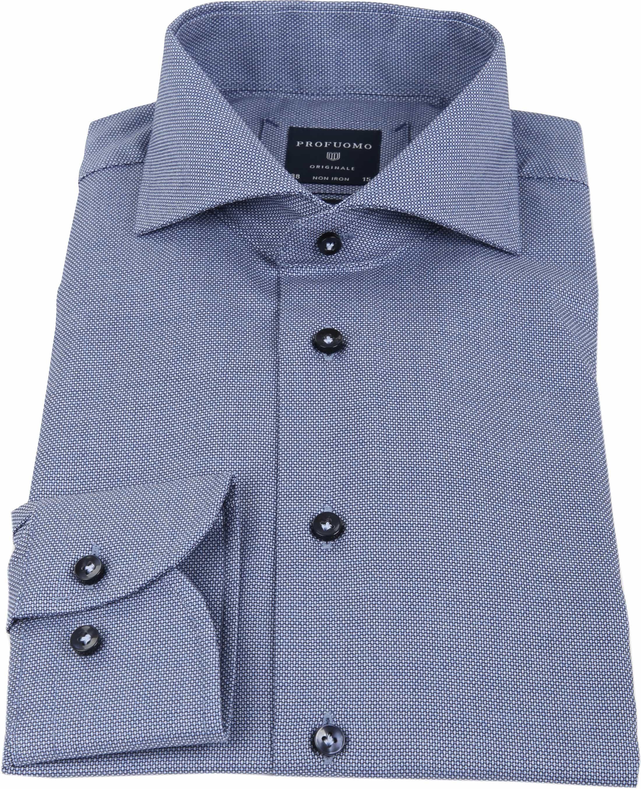 Profuomo Overhemd Blauw SF Dessin foto 2