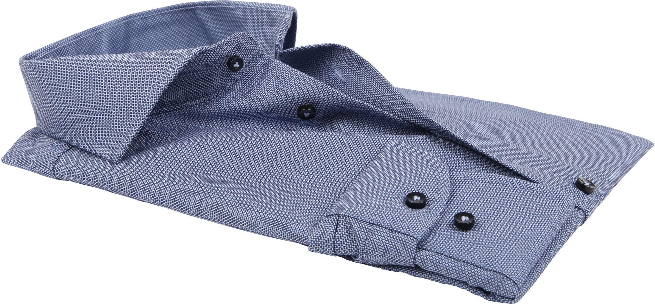 Profuomo Overhemd Blauw SF Dessin foto 3