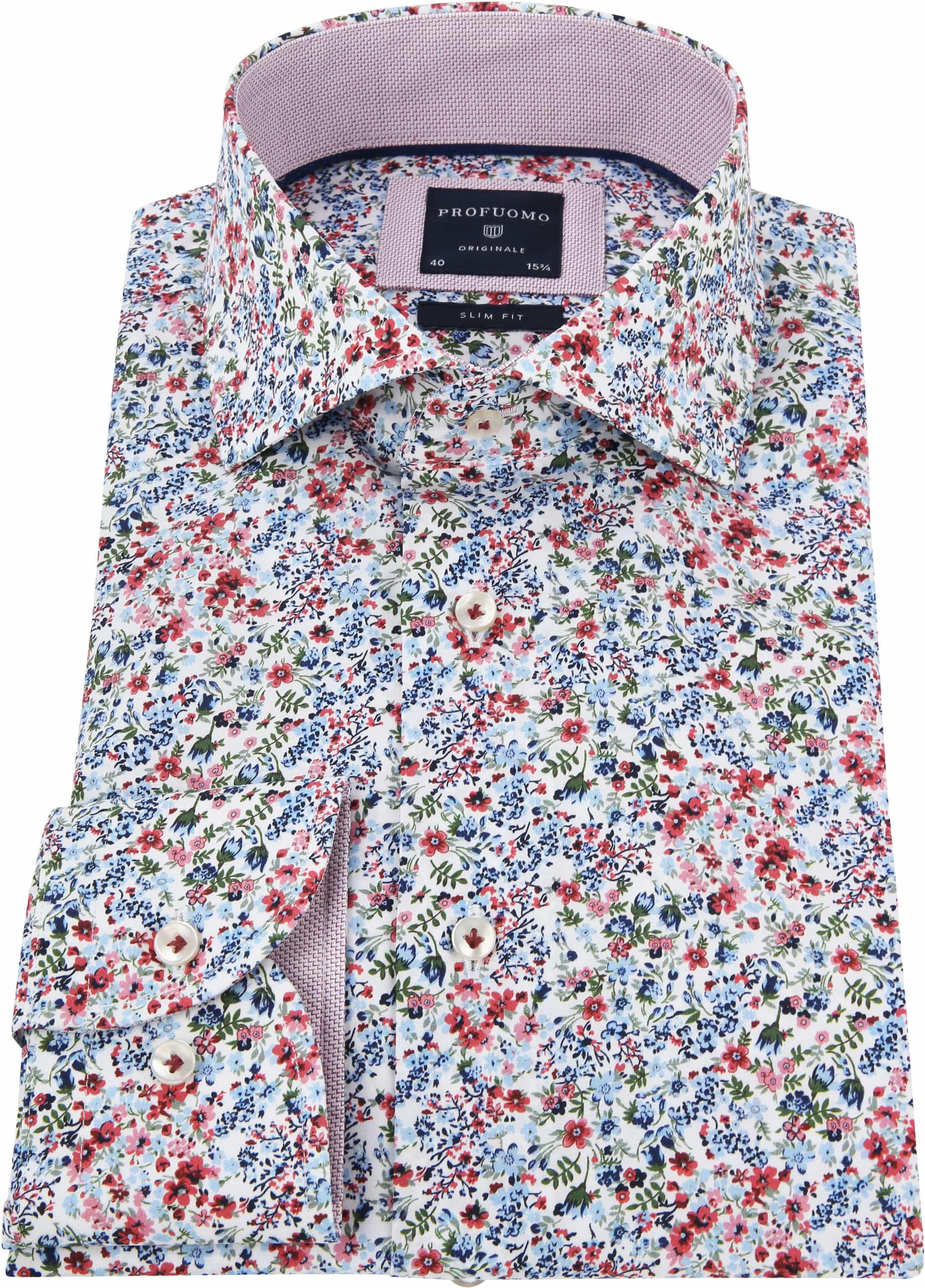 Profuomo Overhemd Bloemen foto 2