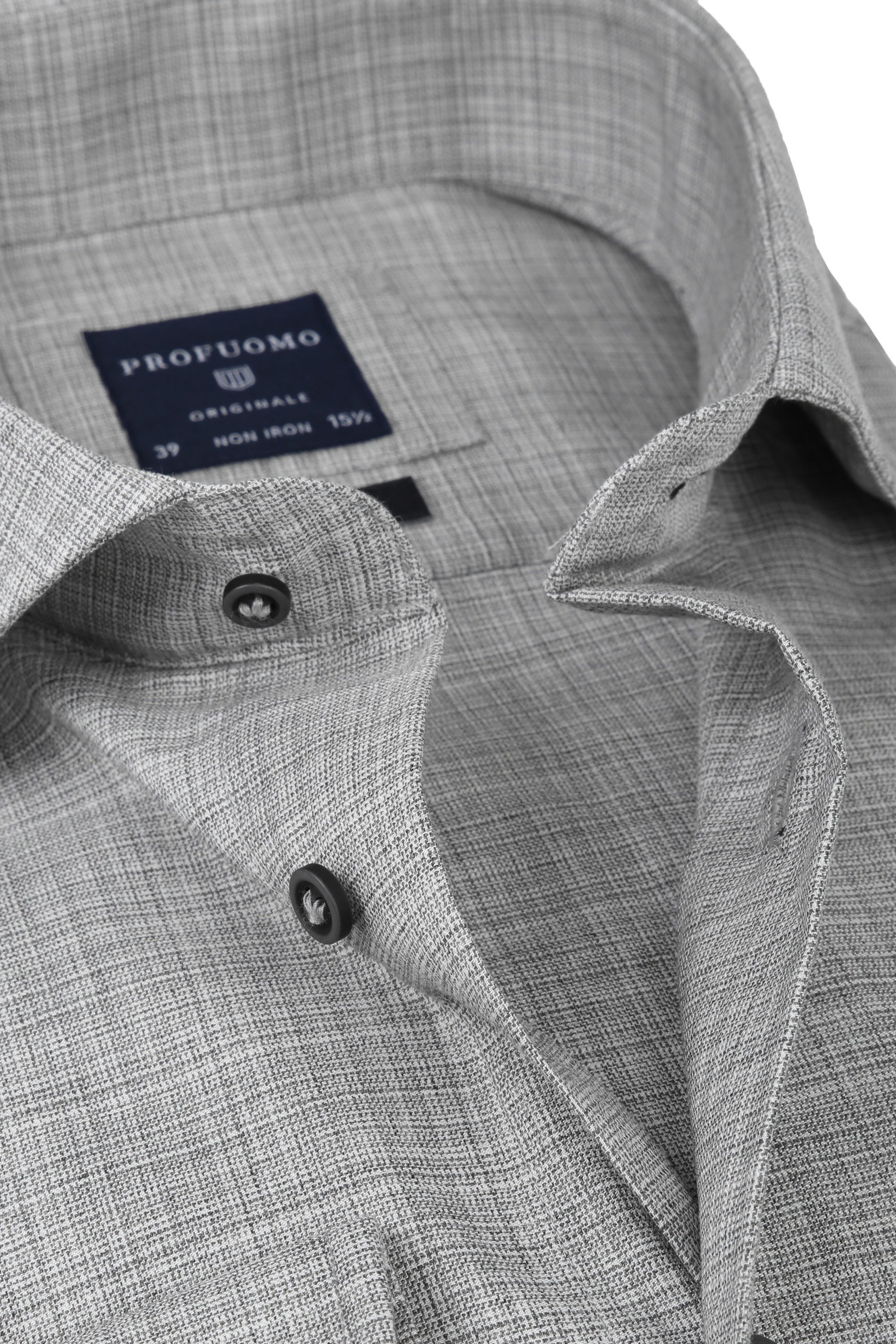 Profuomo Overhemd CAW Melange Grijs foto 1