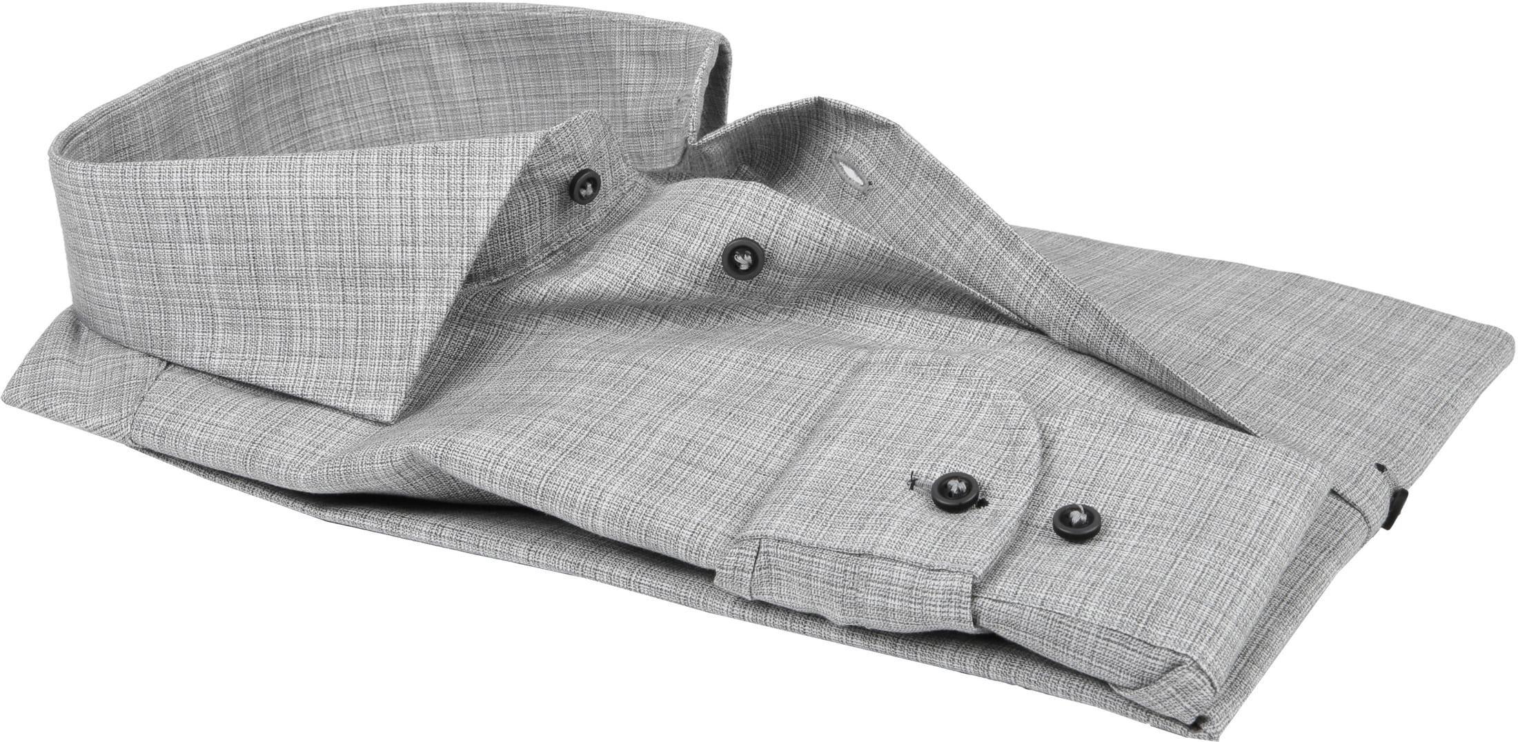 Profuomo Overhemd CAW Melange Grijs foto 2