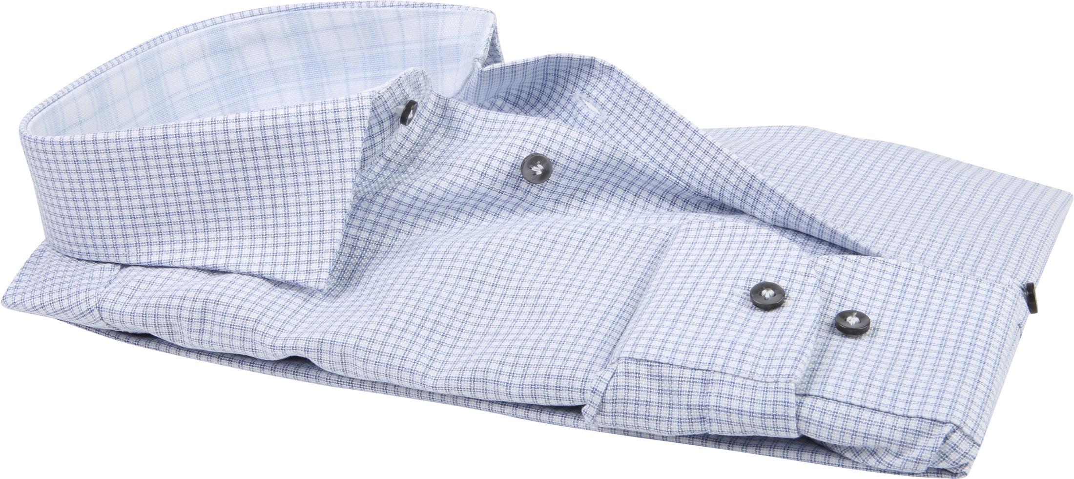 Profuomo Overhemd CAW Ruit Blauw foto 2