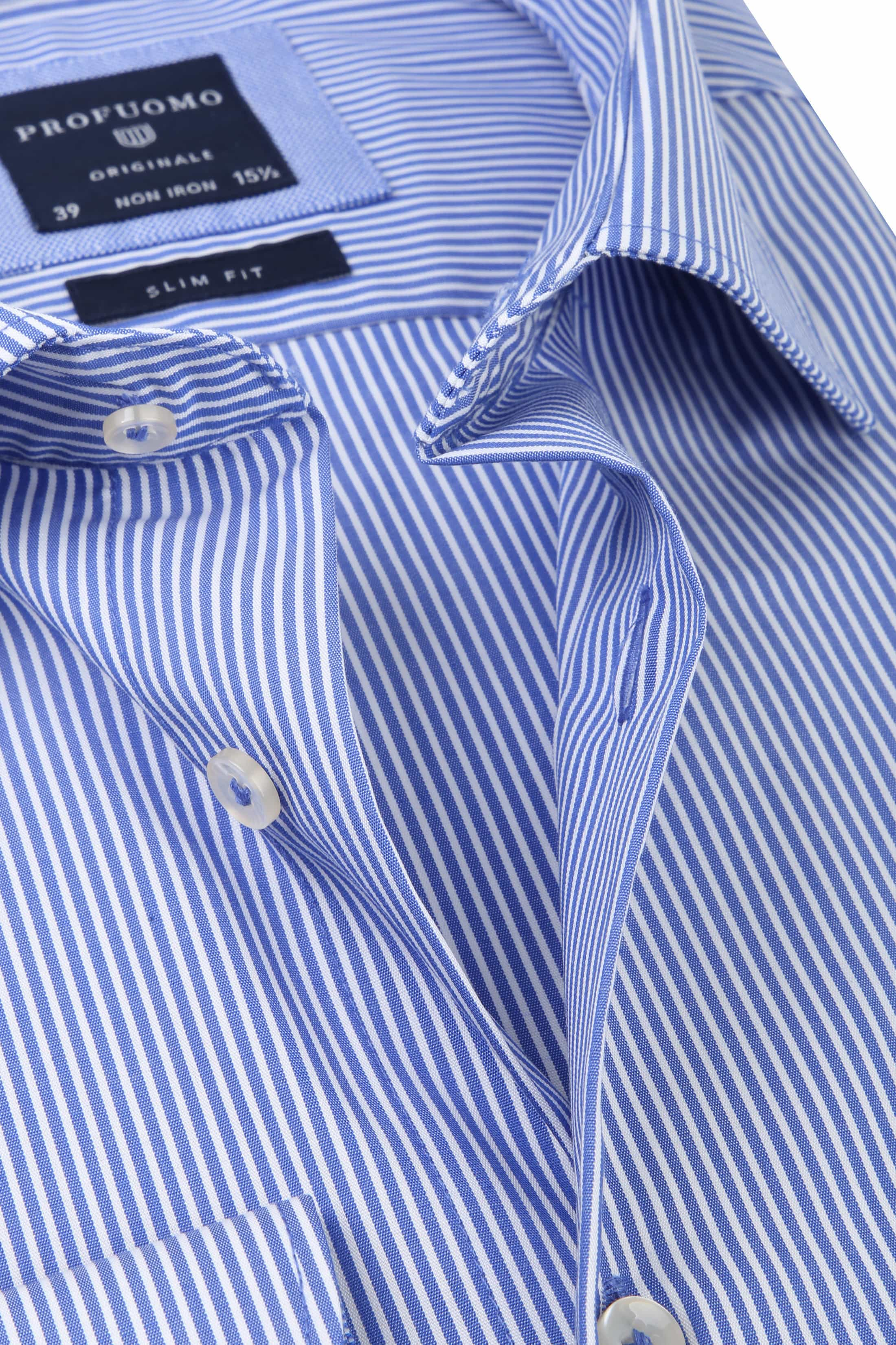 Profuomo Overhemd CAW Striped Blue foto 1