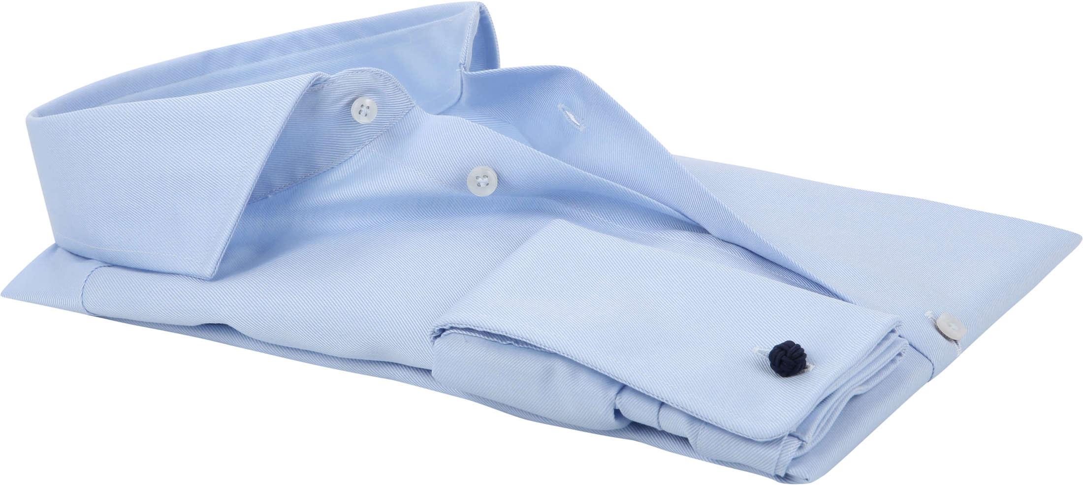 Profuomo Overhemd Cutaway Dubbelmanchet Blue foto 3
