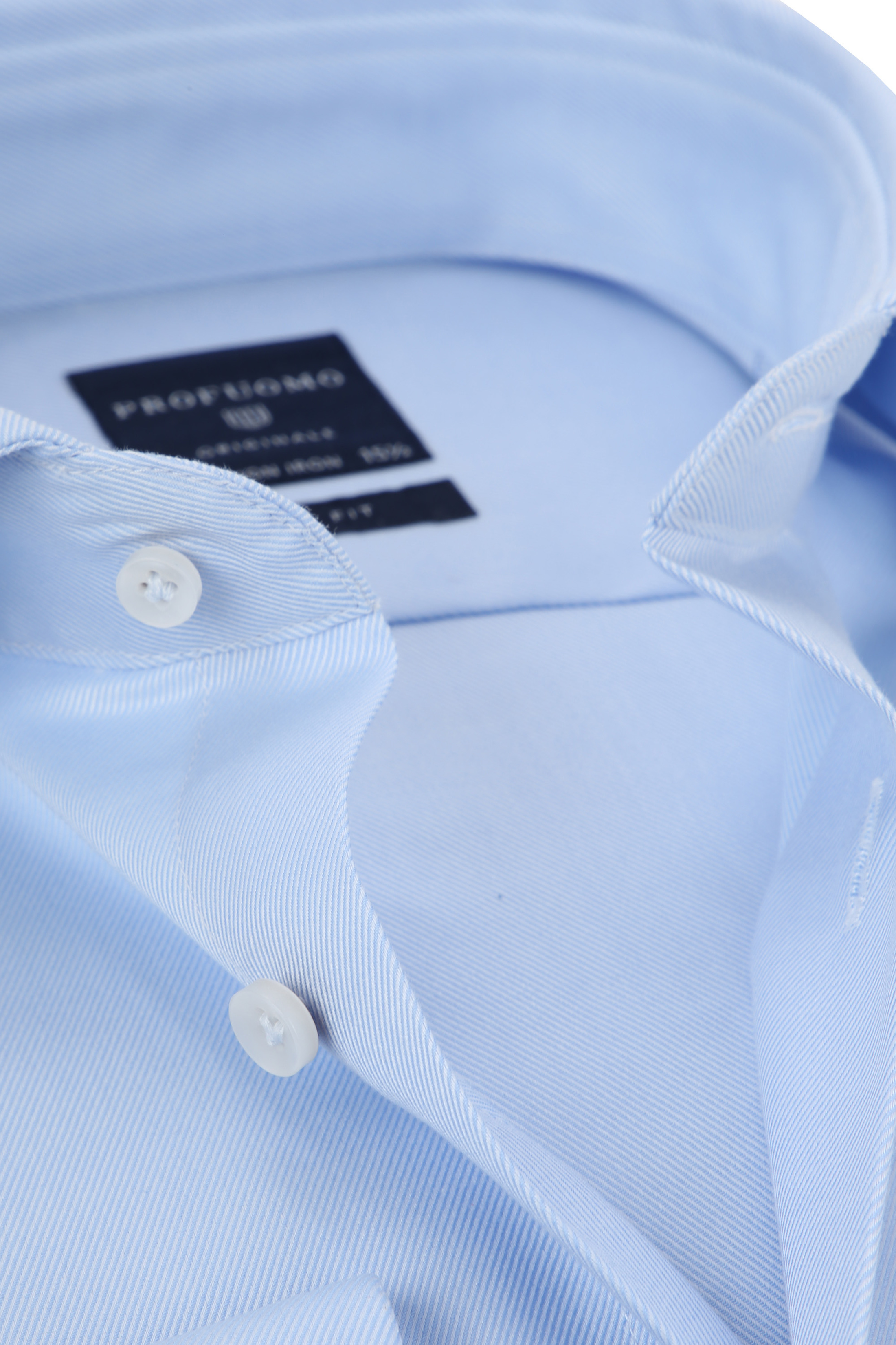 Profuomo Overhemd Cutaway Dubbelmanchet Blue foto 1