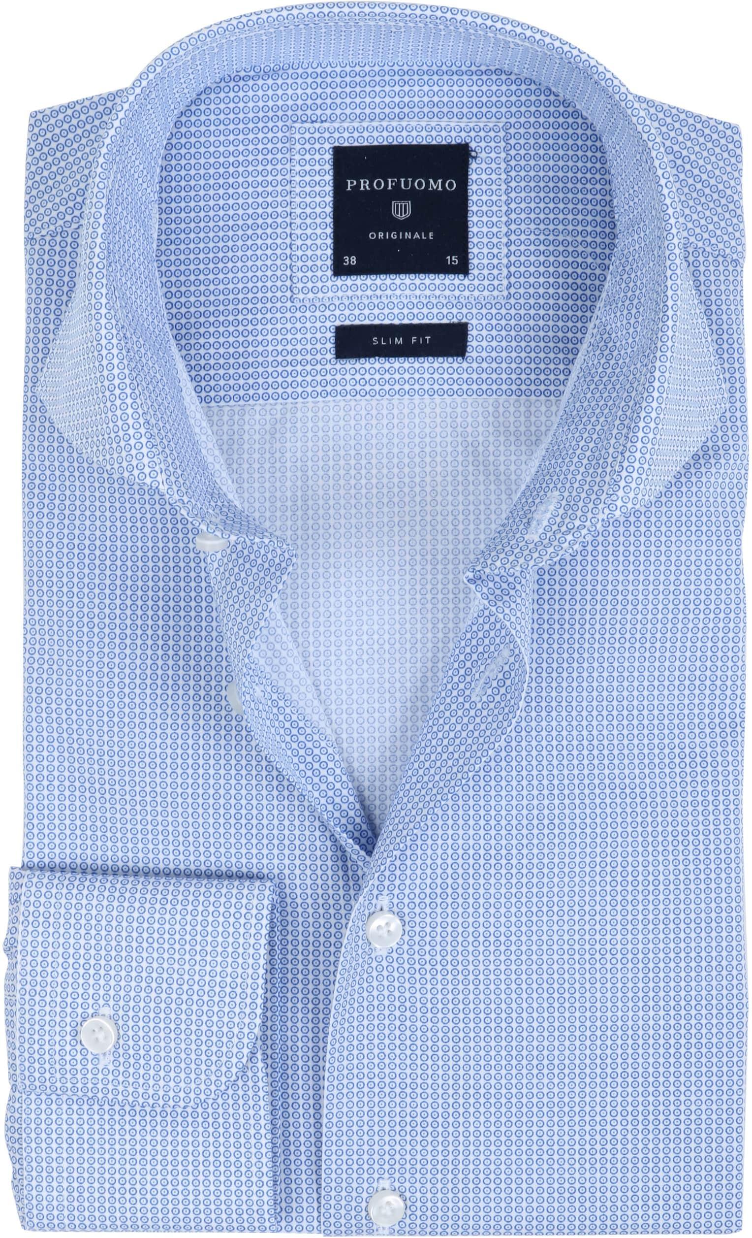 Profuomo Overhemd Dessin Blauw foto 0