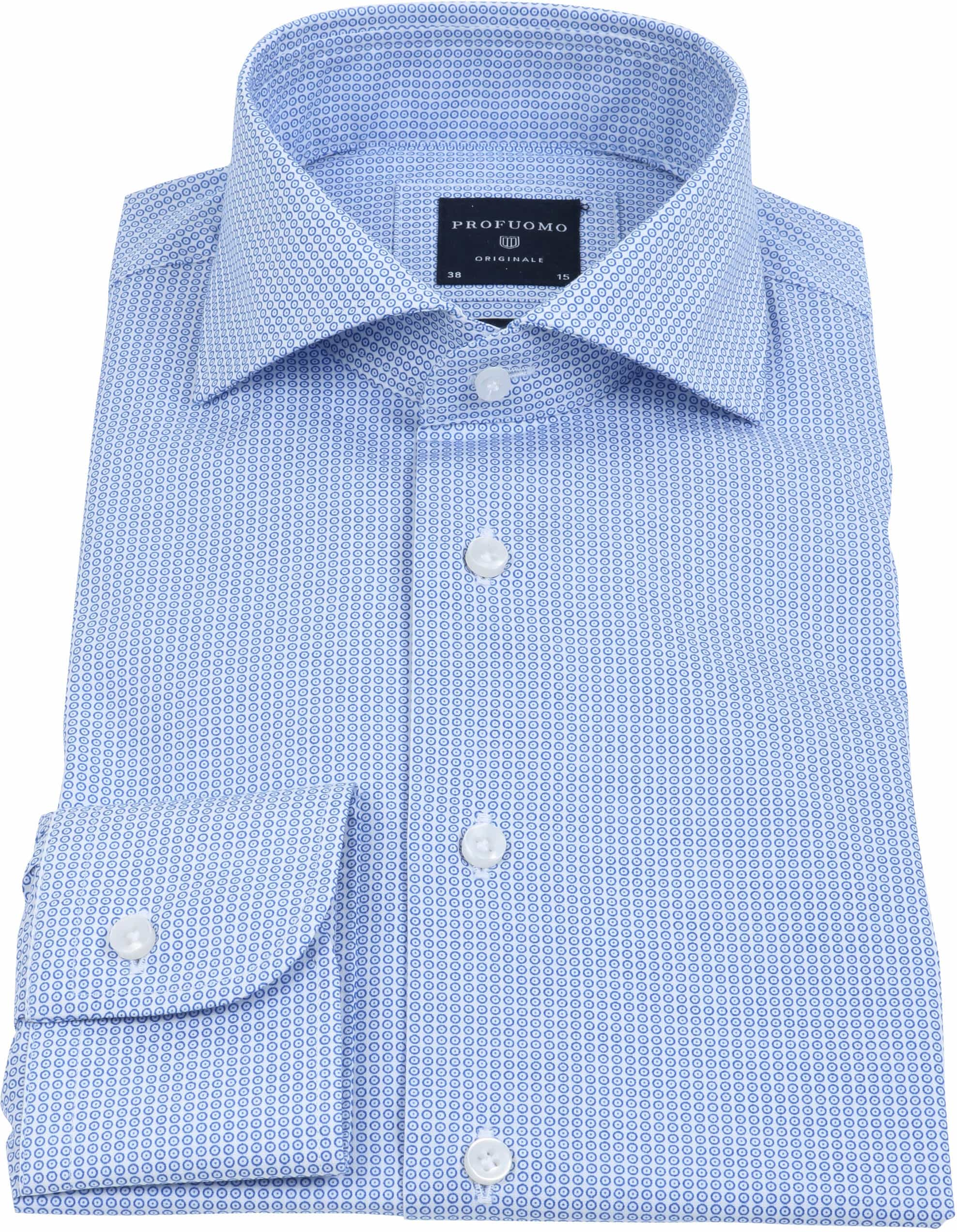 Profuomo Overhemd Dessin Blauw foto 1