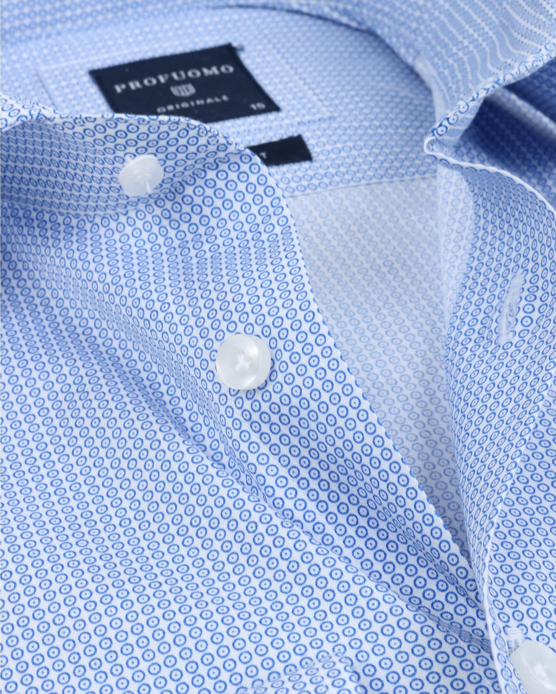 Profuomo Overhemd Dessin Blauw foto 2