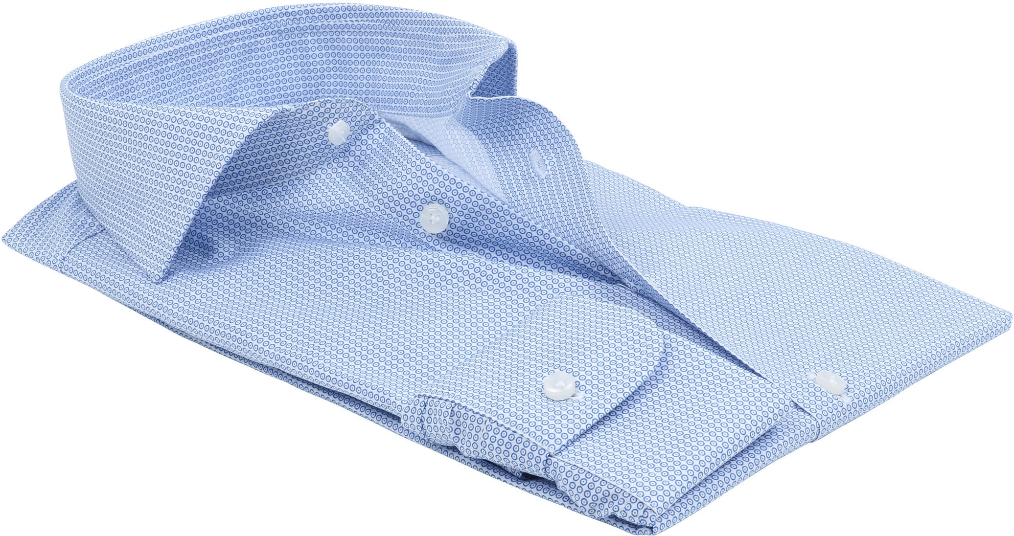 Profuomo Overhemd Dessin Blauw foto 3