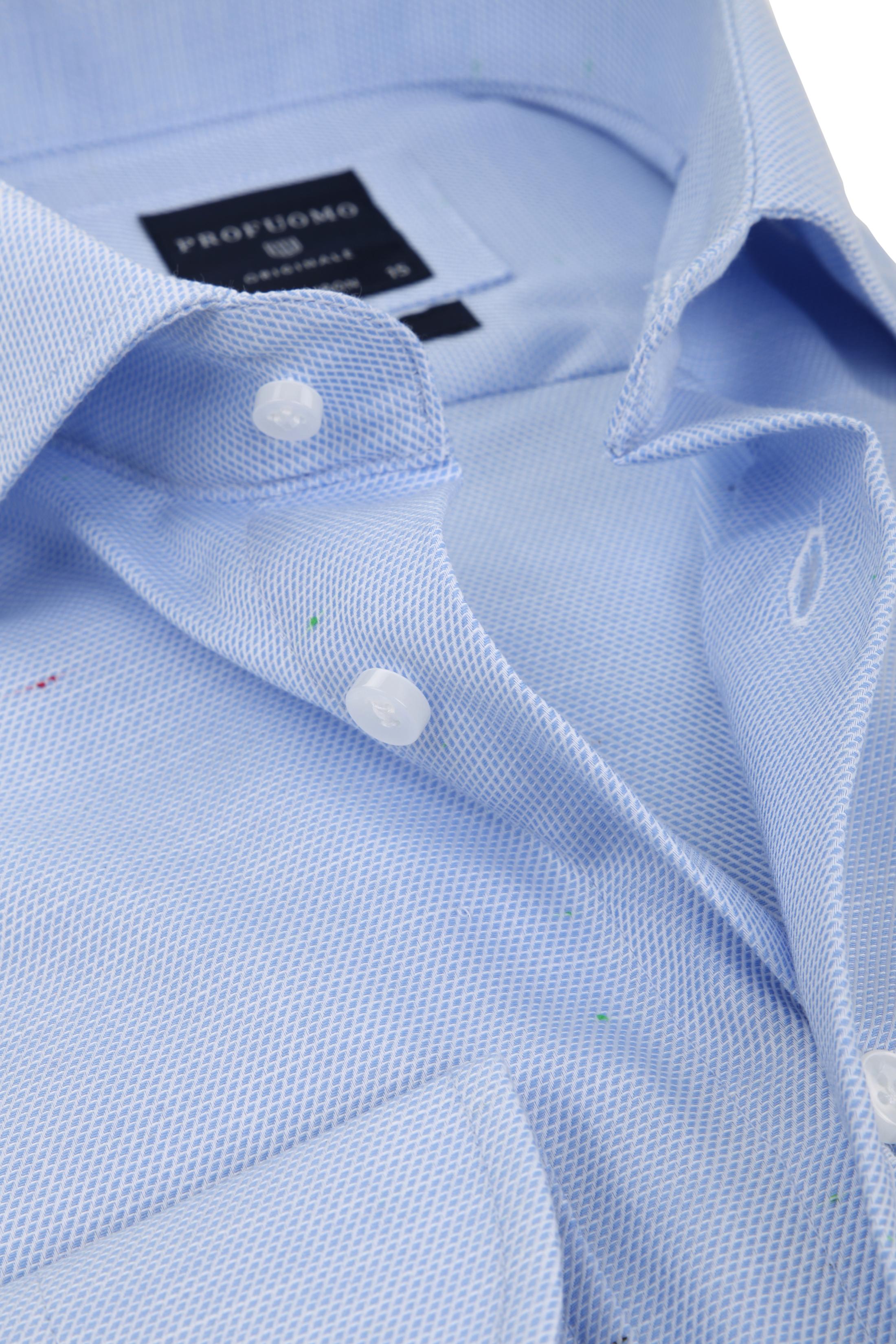 Profuomo Overhemd Dessin Blauw CAW foto 1